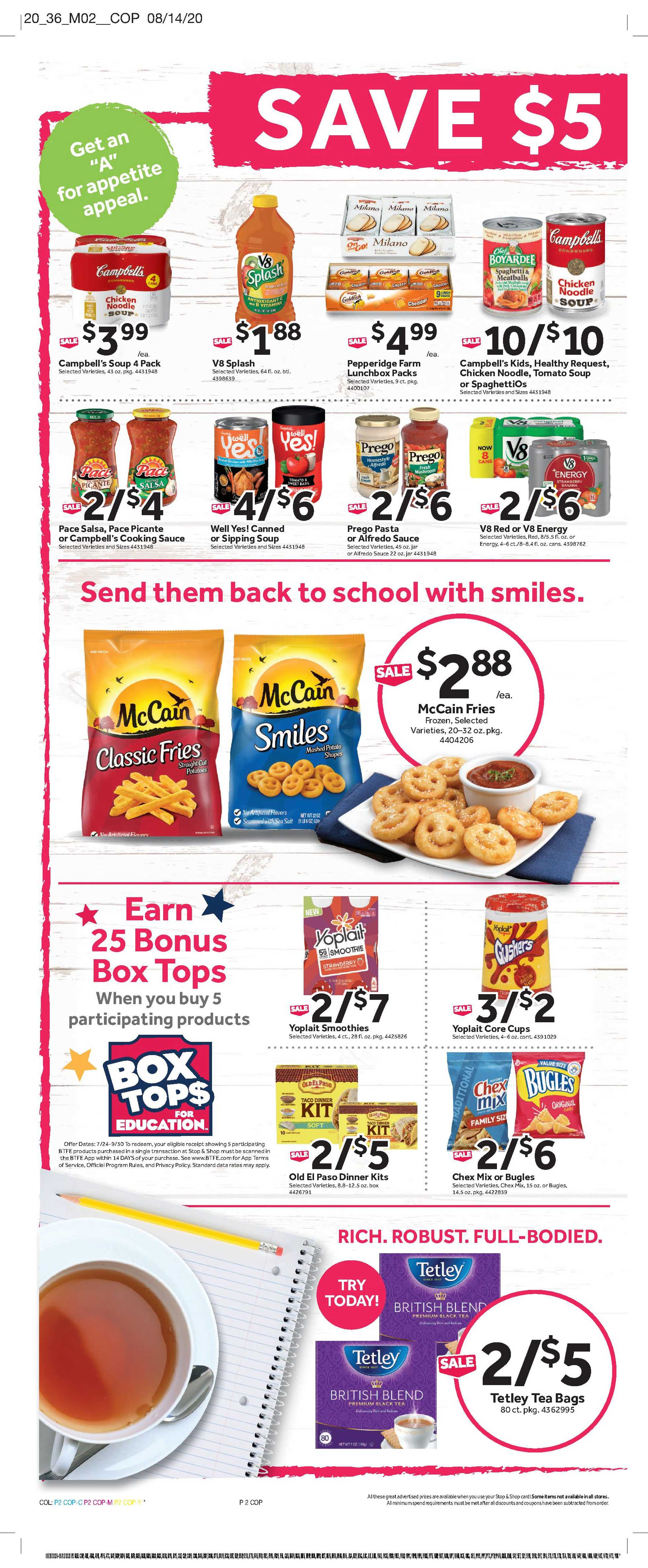 Stop & Shop - deals are valid from 08/28/20 to 09/03/20 - page 4.