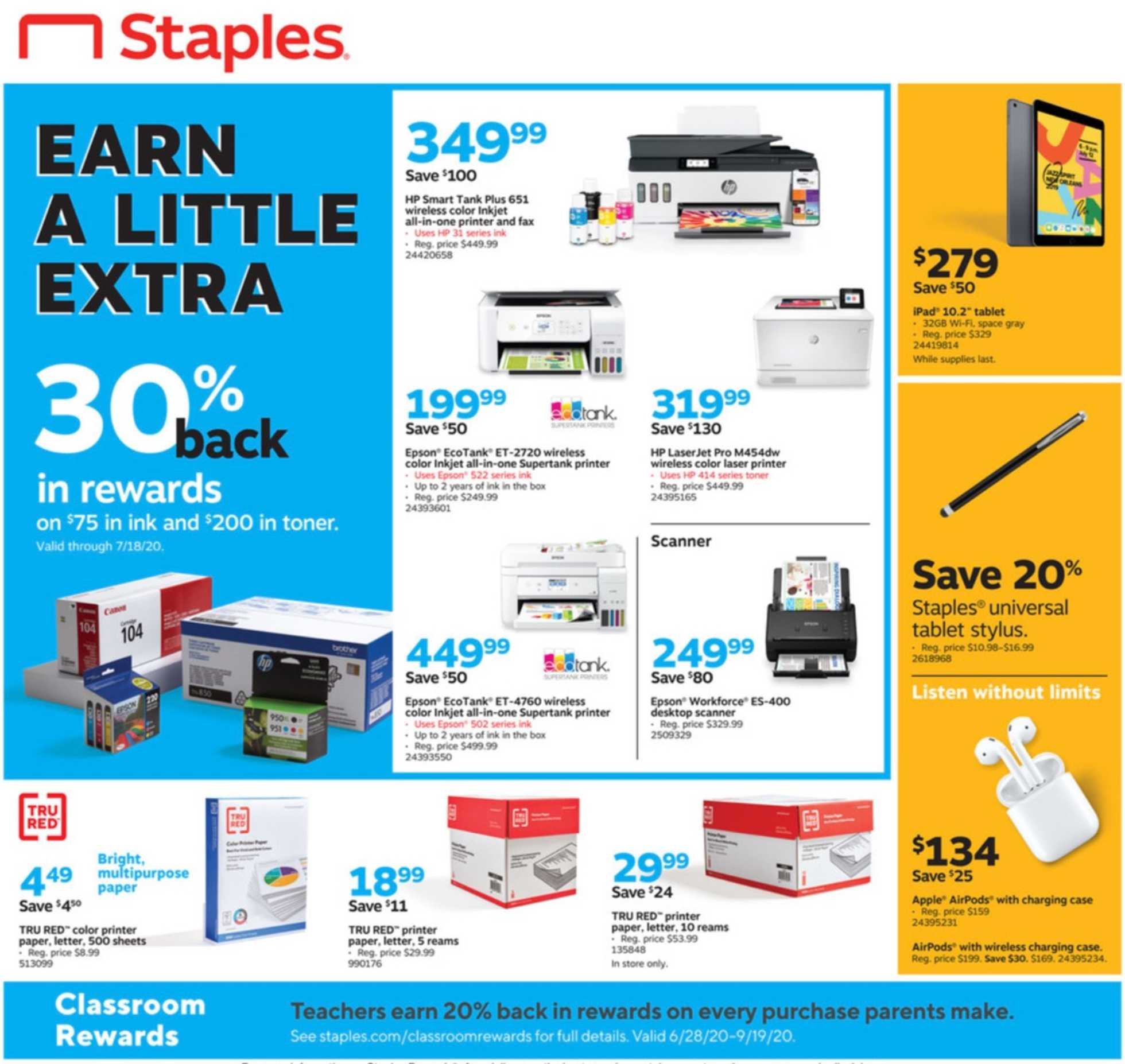 Staples - deals are valid from 07/12/20 to 07/18/20 - page 4.