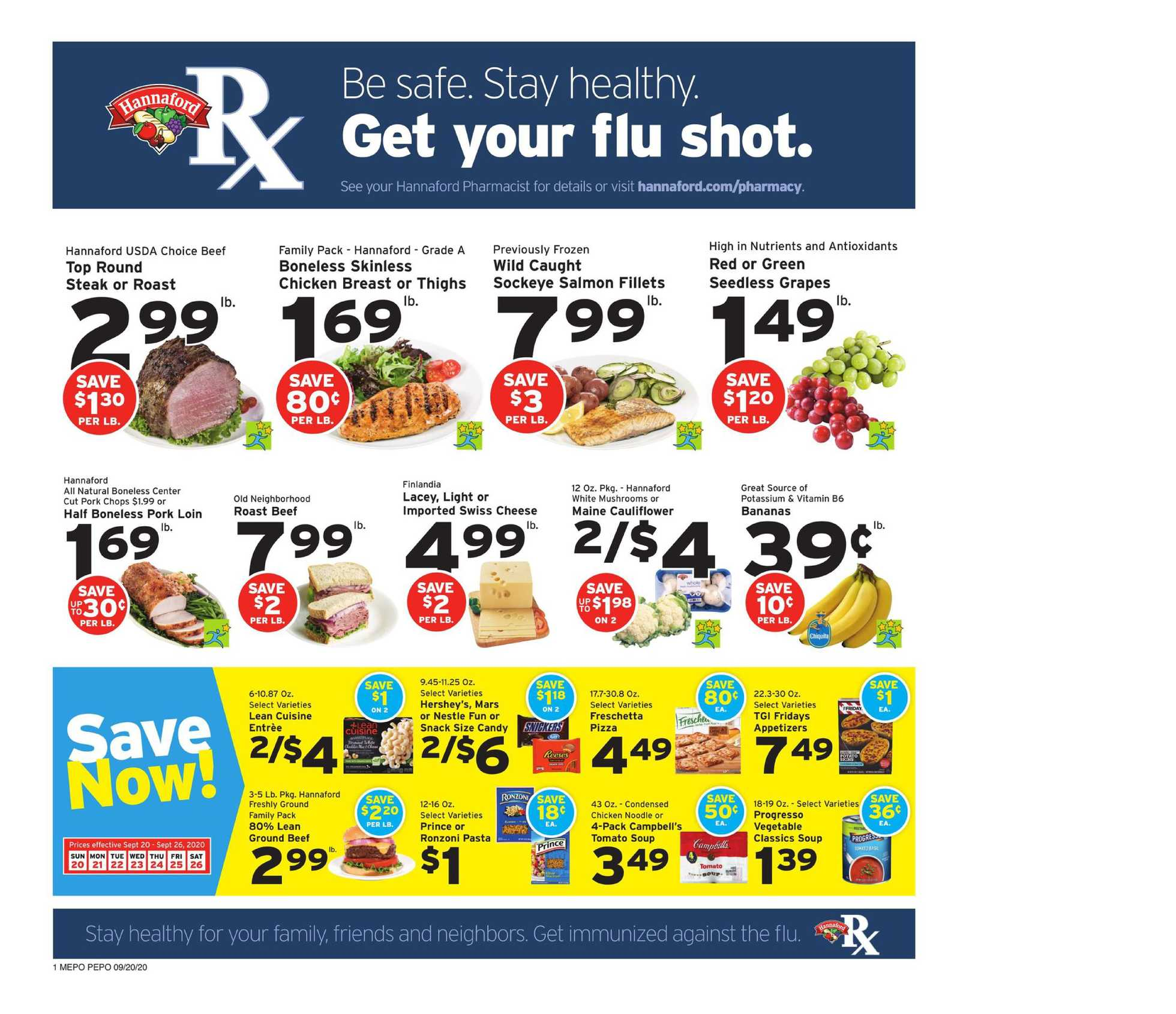 Hannaford - deals are valid from 09/20/20 to 09/26/20 - page 1.