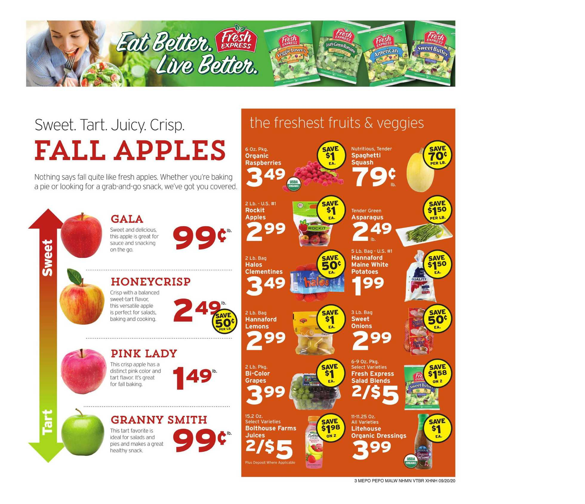 Hannaford - deals are valid from 09/20/20 to 09/26/20 - page 3.