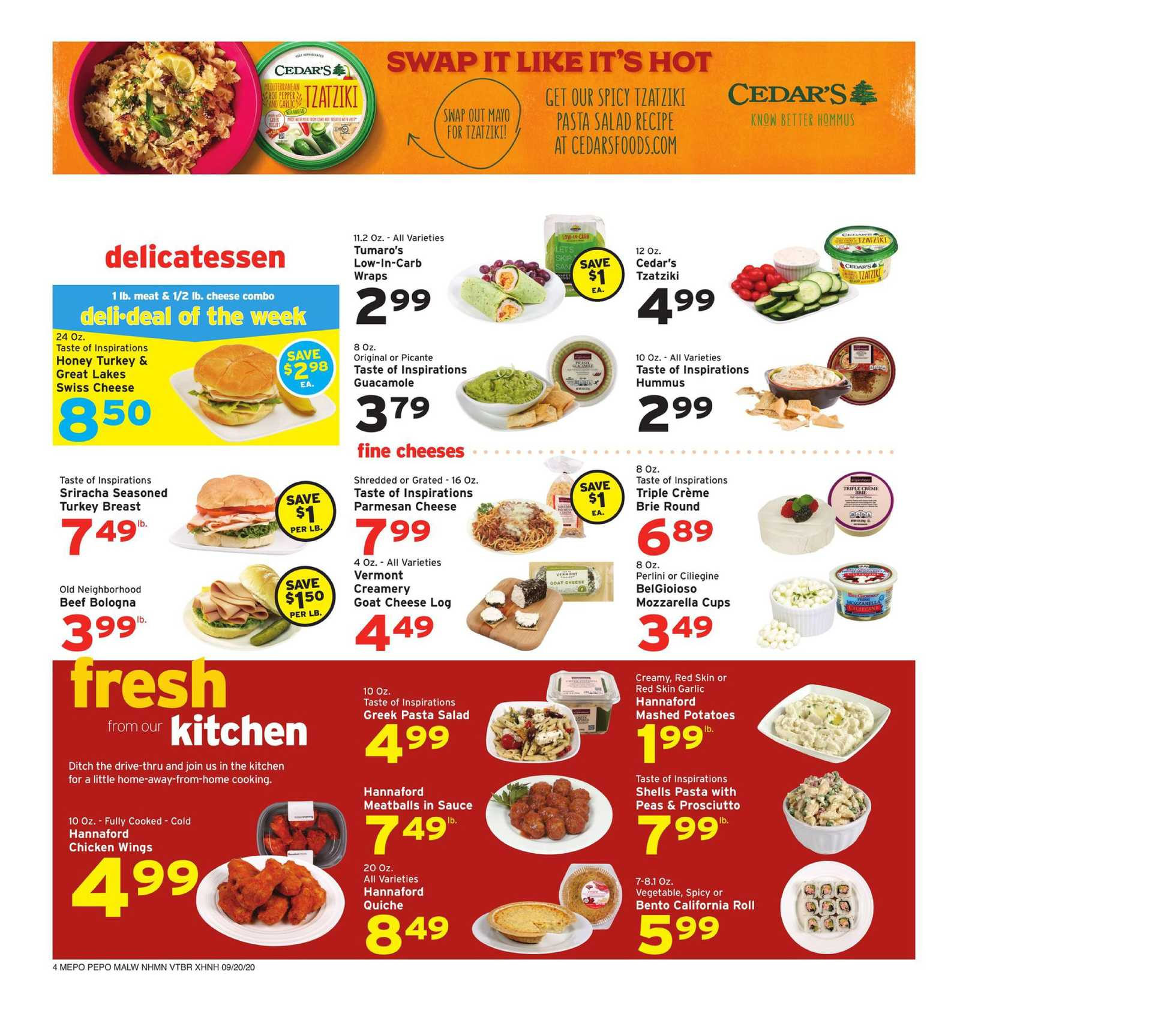 Hannaford - deals are valid from 09/20/20 to 09/26/20 - page 4.
