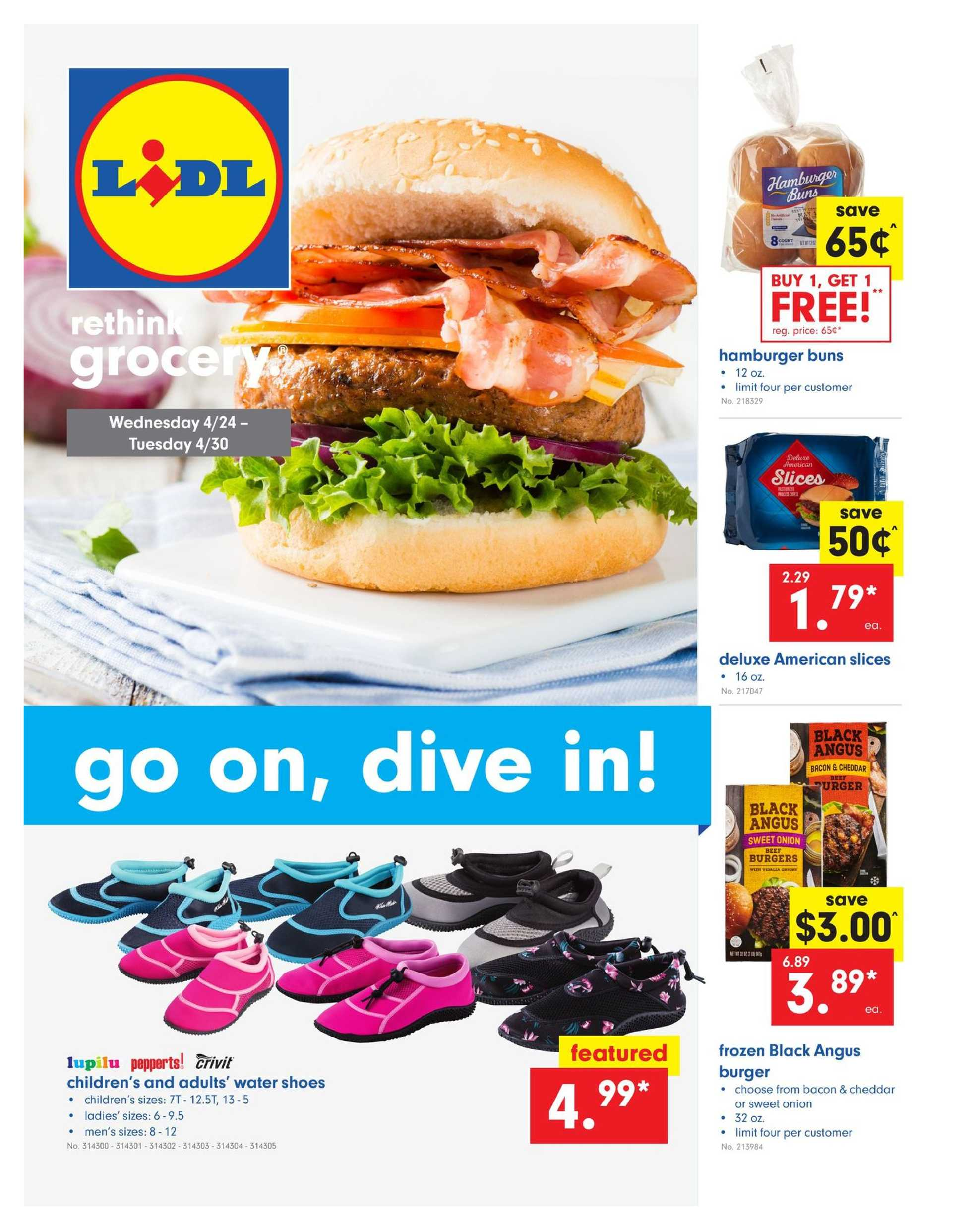 Lidl - deals are valid from 04/24/19 to 04/30/19 - page 1.