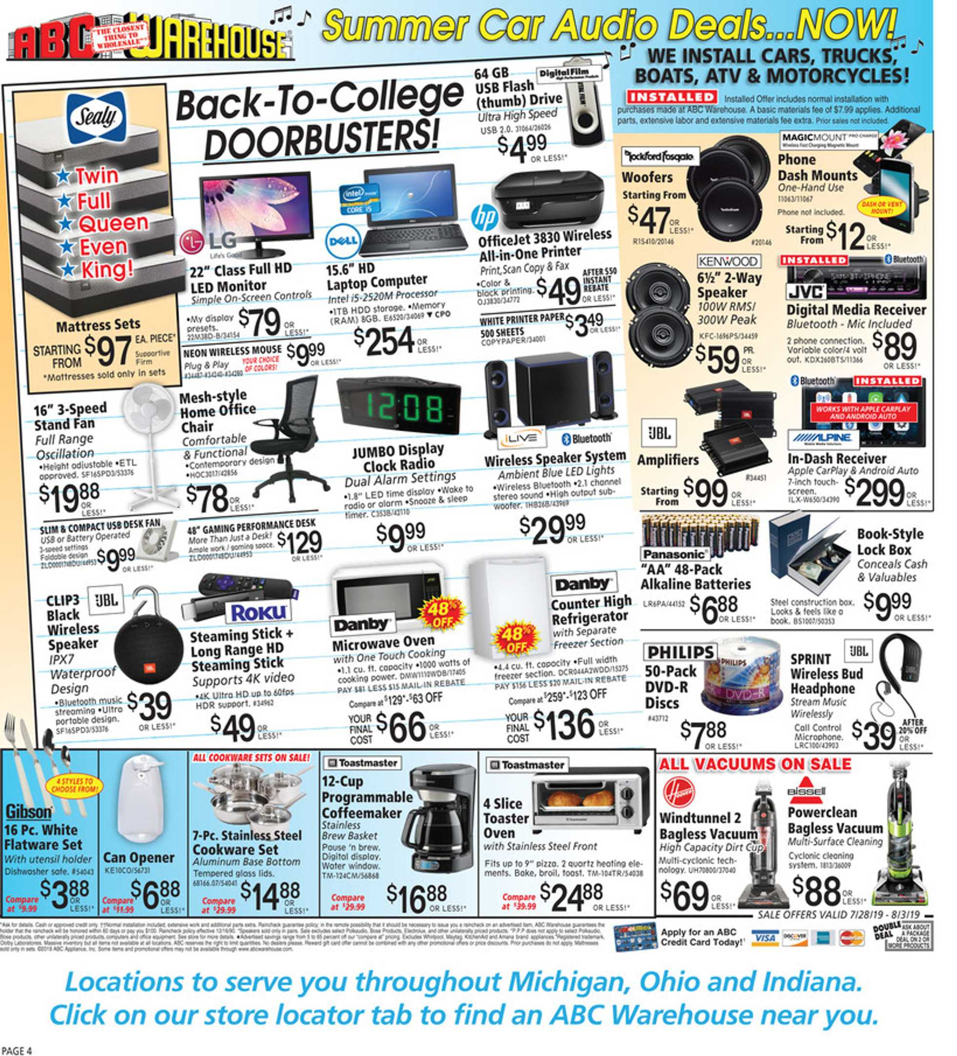 ABC Warehouse - deals are valid from 07/28/19 to 08/03/19 - page 4.