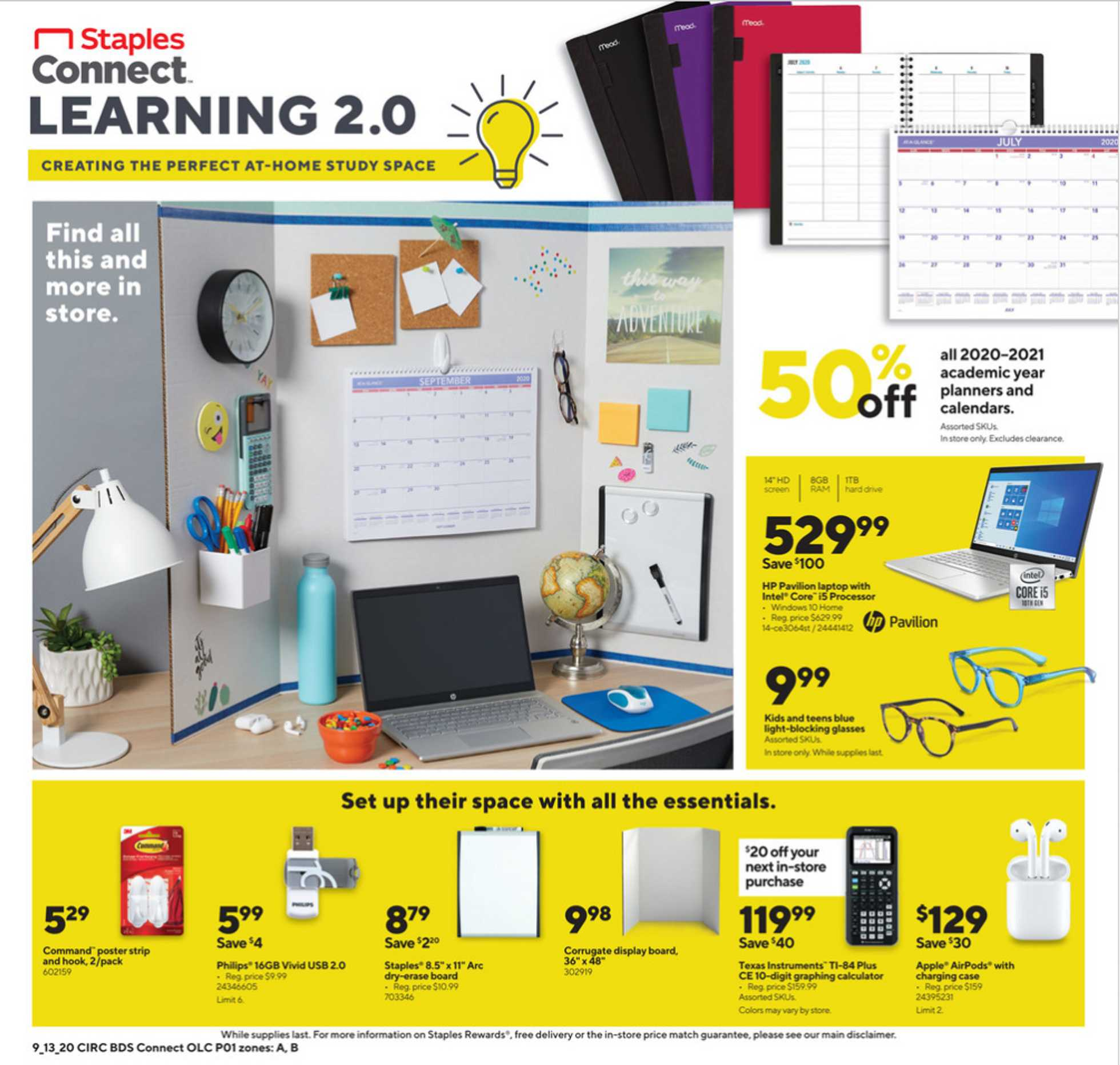 Staples - deals are valid from 09/13/20 to 09/19/20 - page 1.
