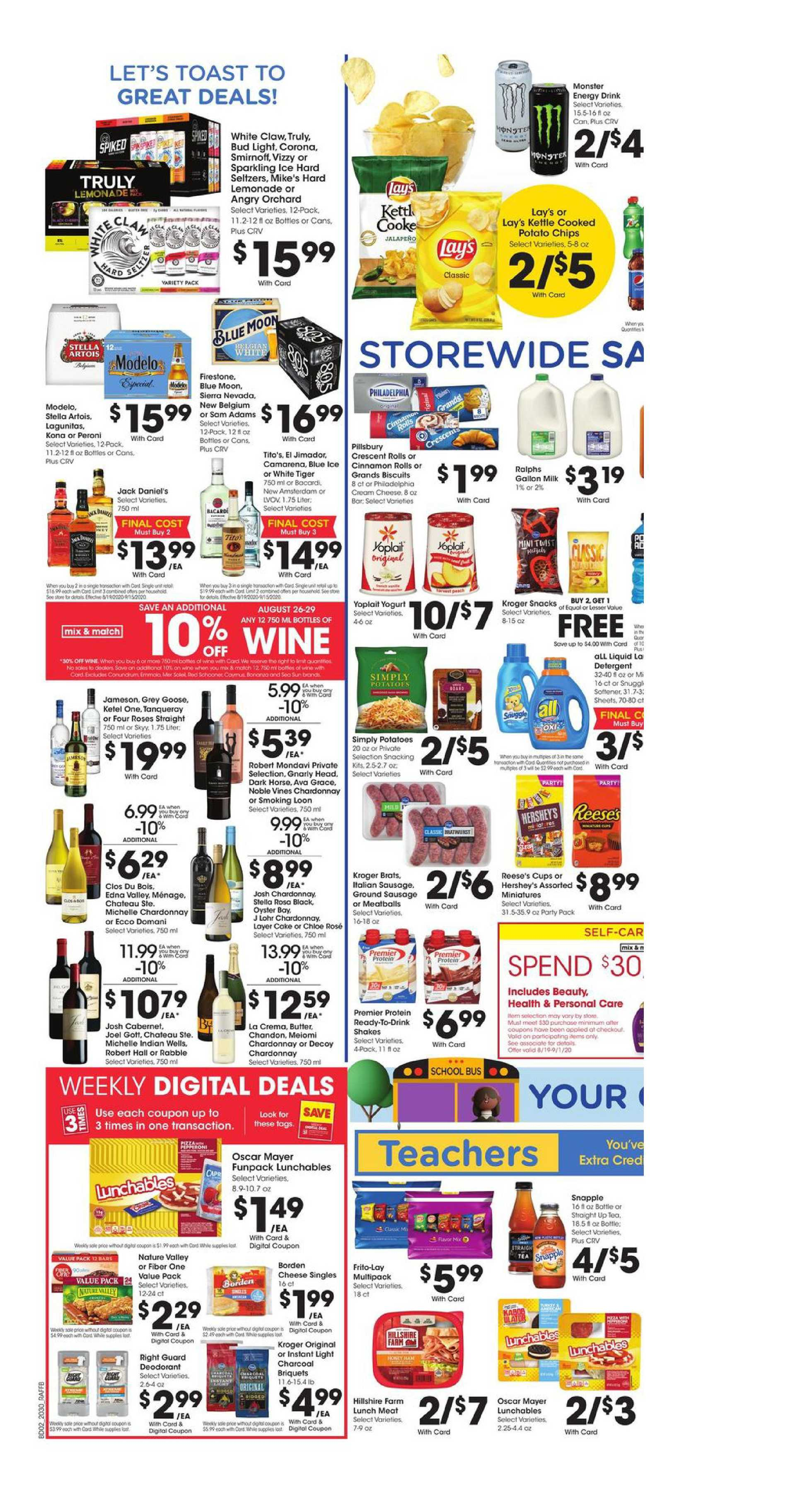 Ralphs - deals are valid from 08/26/20 to 09/01/20 - page 4.