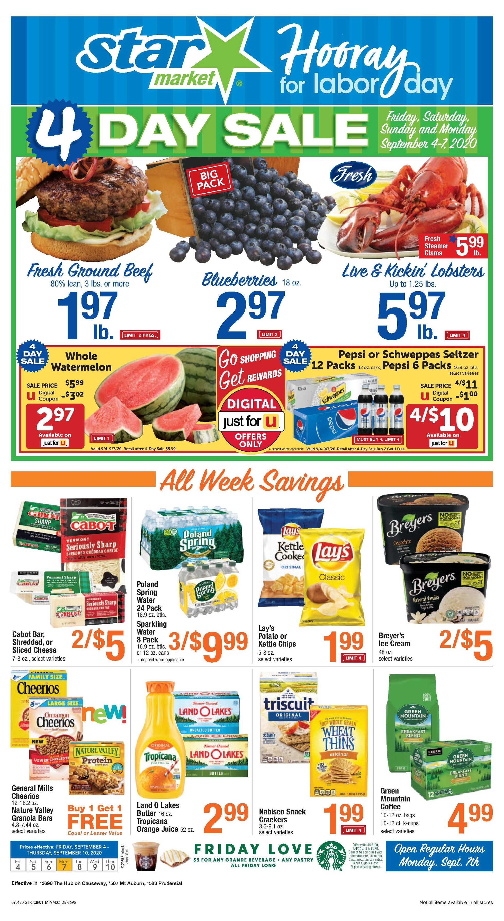 Star Market - deals are valid from 09/04/20 to 09/10/20 - page 1.
