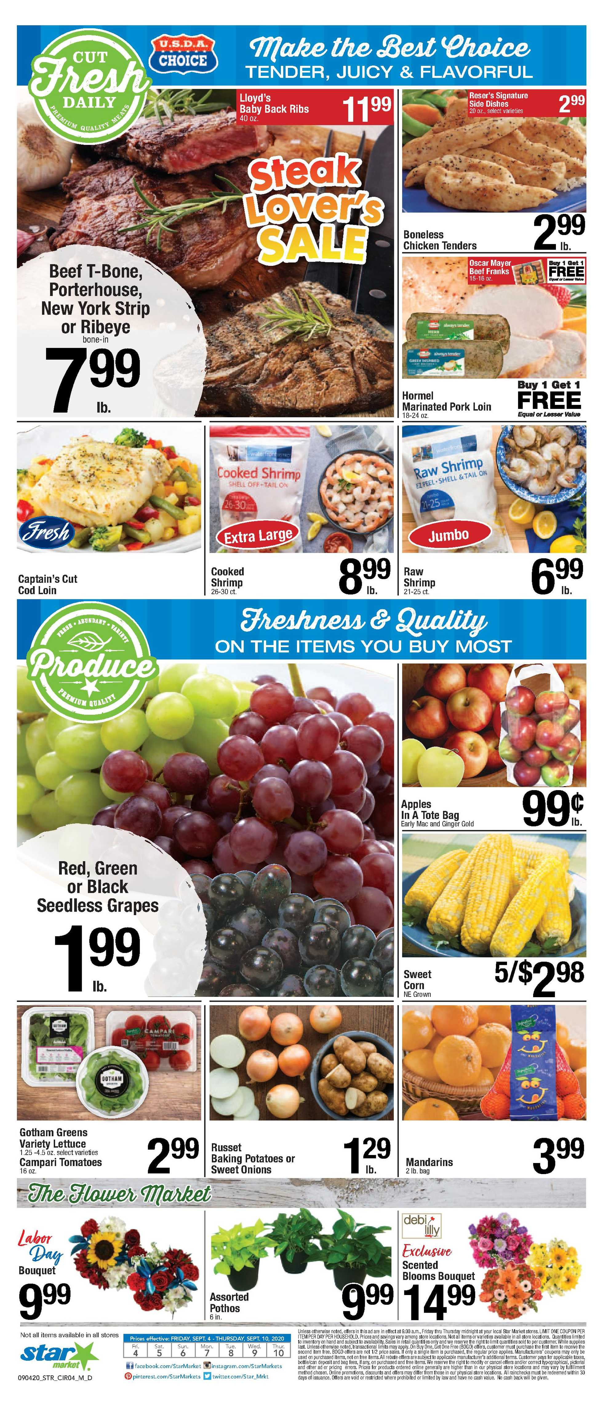 Star Market - deals are valid from 09/04/20 to 09/10/20 - page 3.
