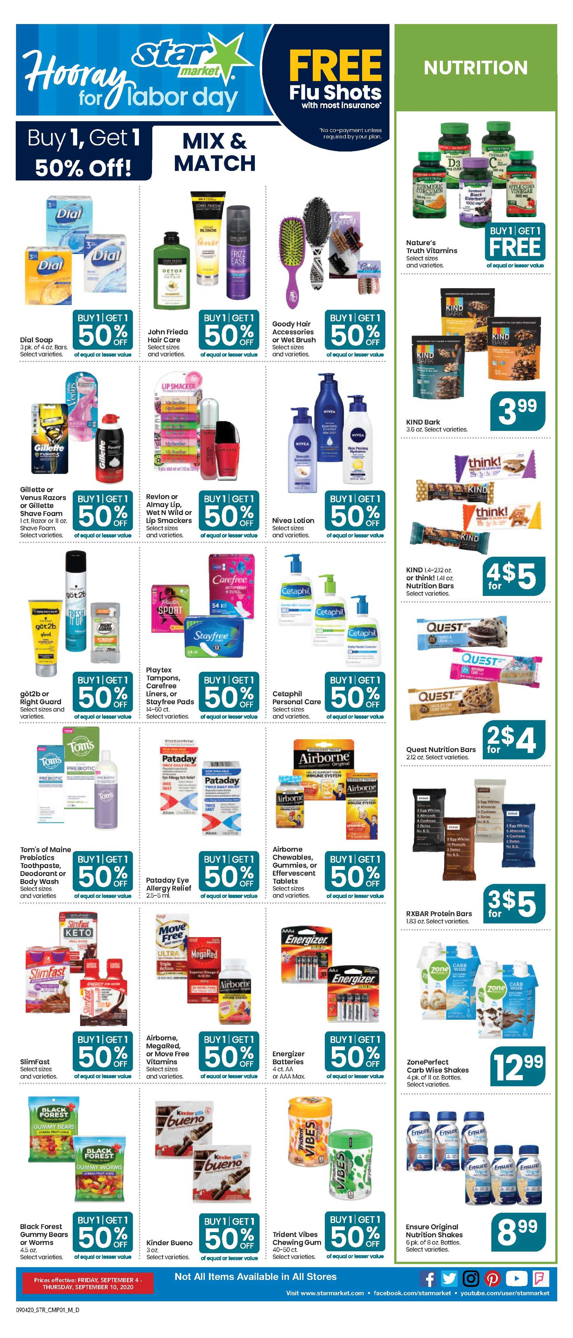 Star Market - deals are valid from 09/04/20 to 09/10/20 - page 4.