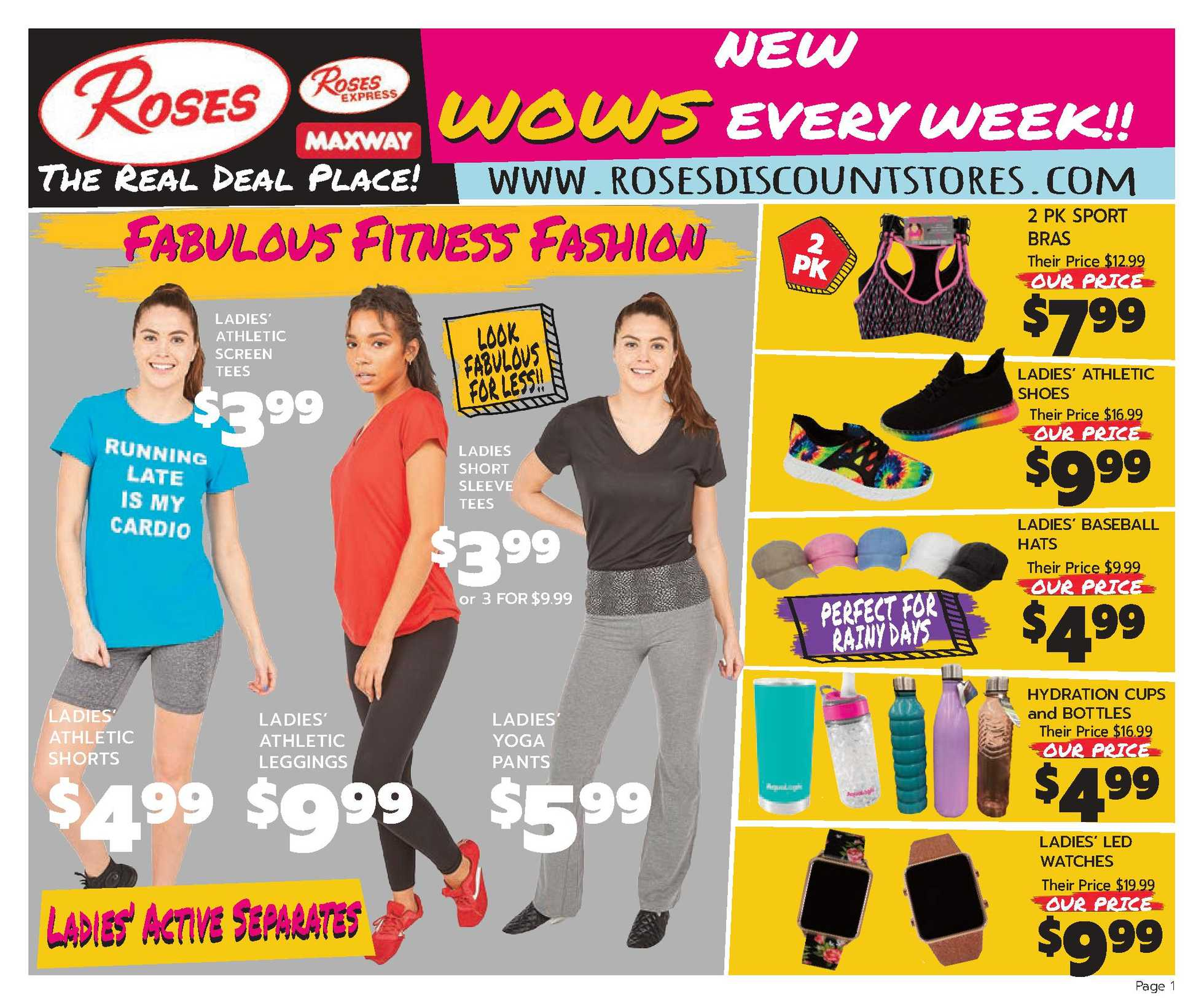 Roses Discount Store - deals are valid from 01/01/21 to 01/31/21 - page 1.