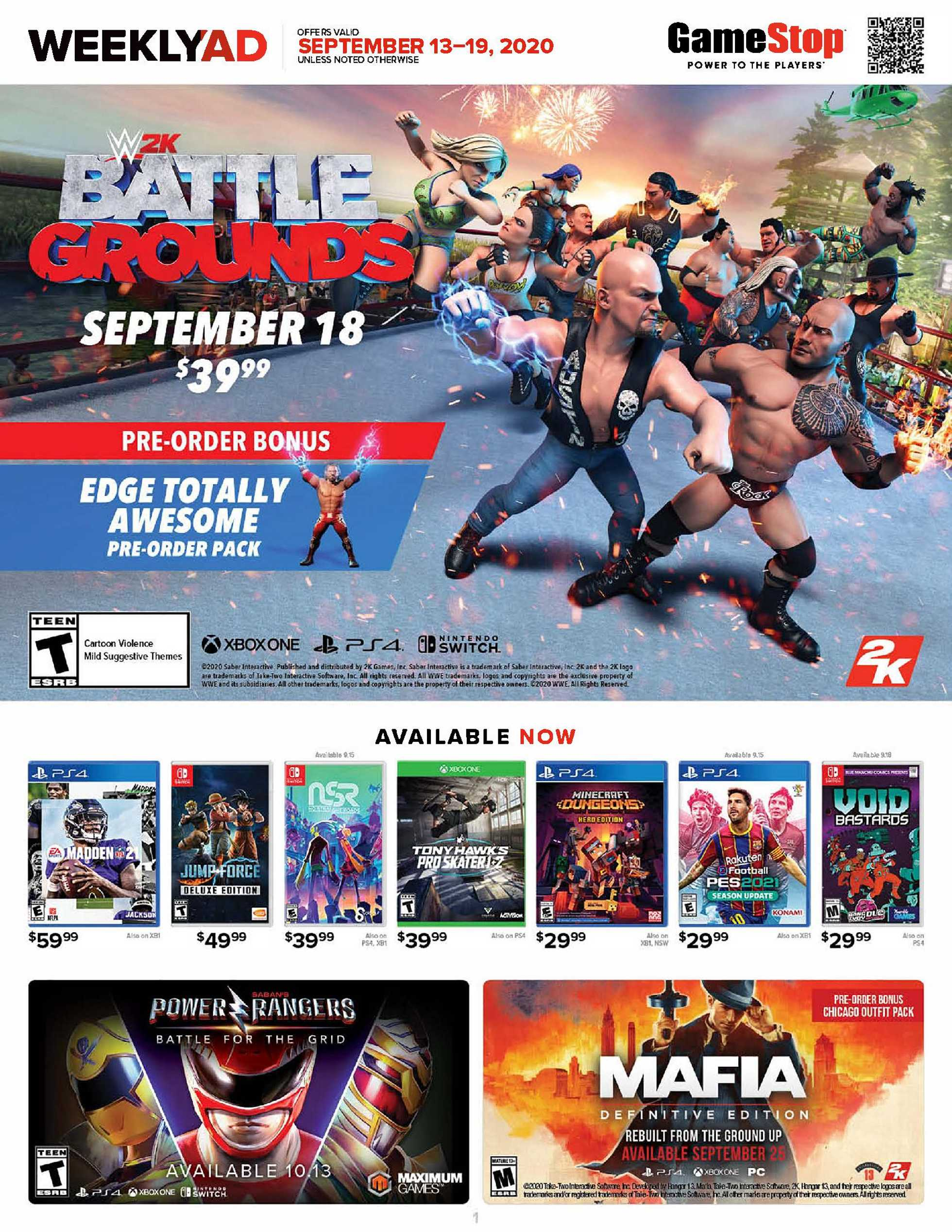 GameStop - deals are valid from 09/13/20 to 09/19/20 - page 1.