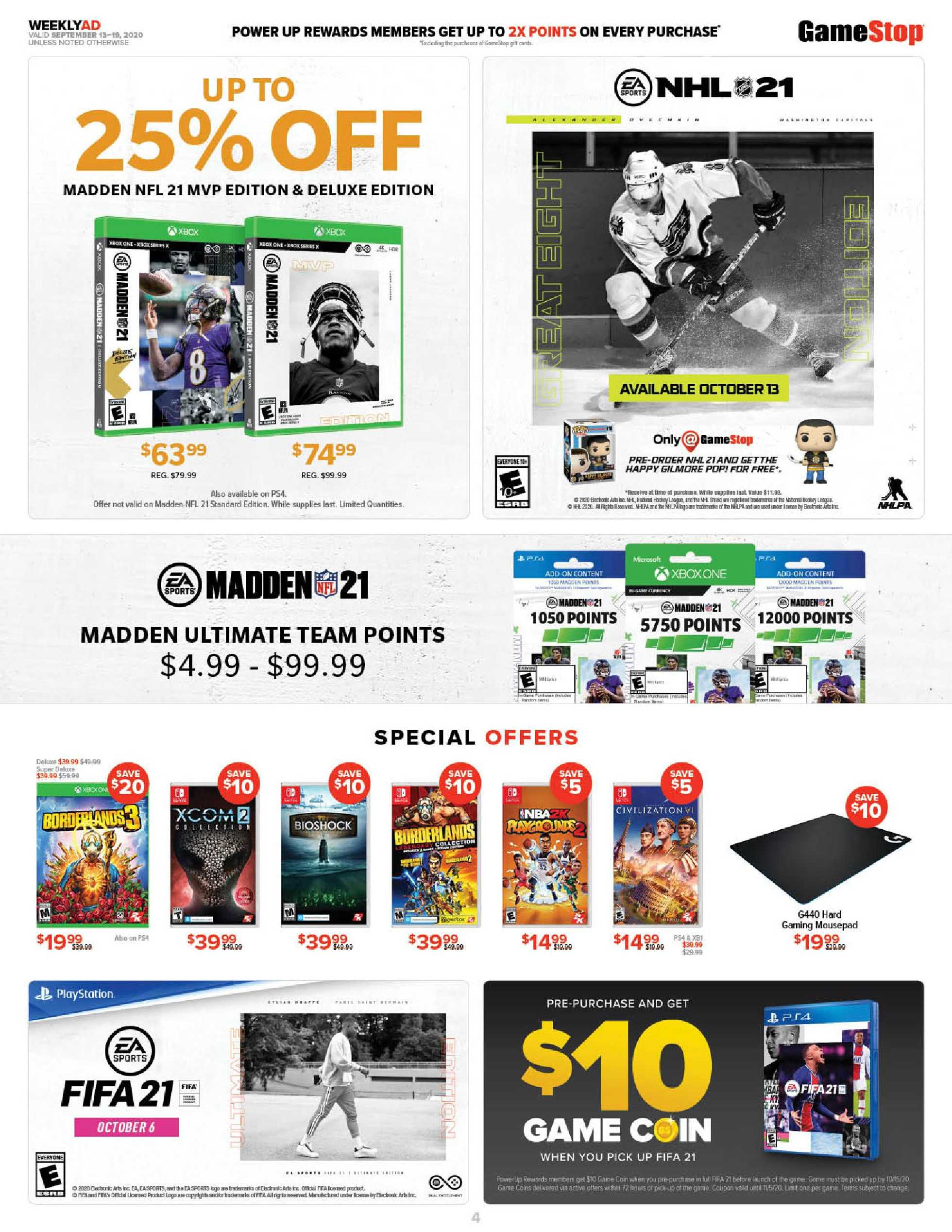GameStop - deals are valid from 09/13/20 to 09/19/20 - page 4.
