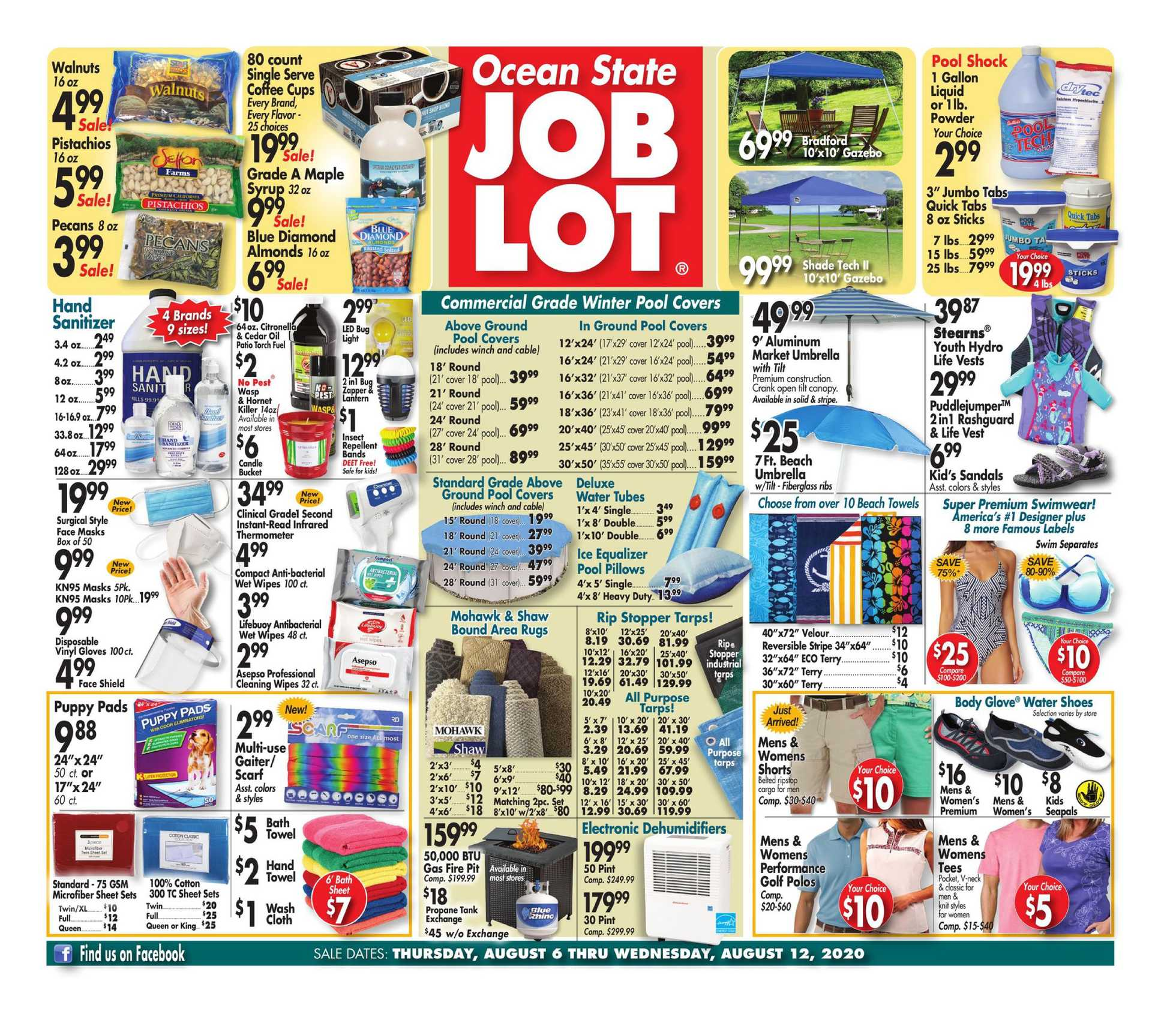 Ocean State Job Lot - deals are valid from 08/06/20 to 08/12/20 - page 1.