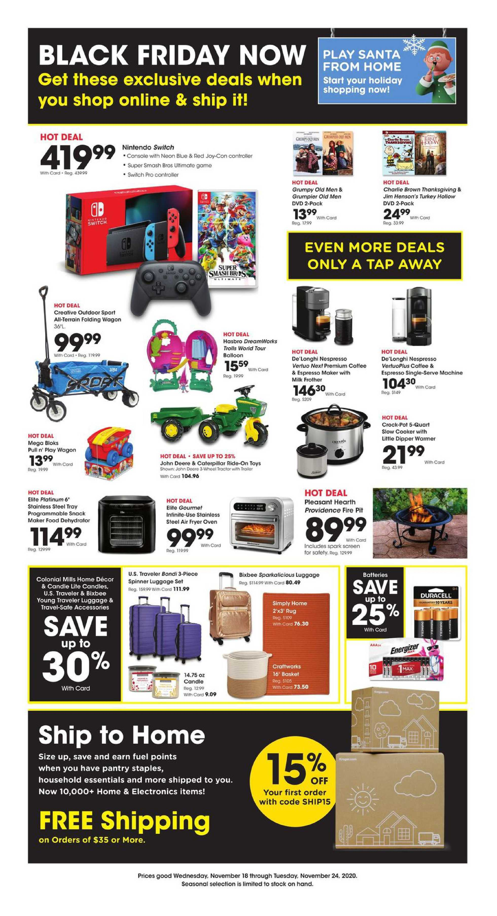 Kroger - deals are valid from 11/19/20 to 11/25/20 - page 1.