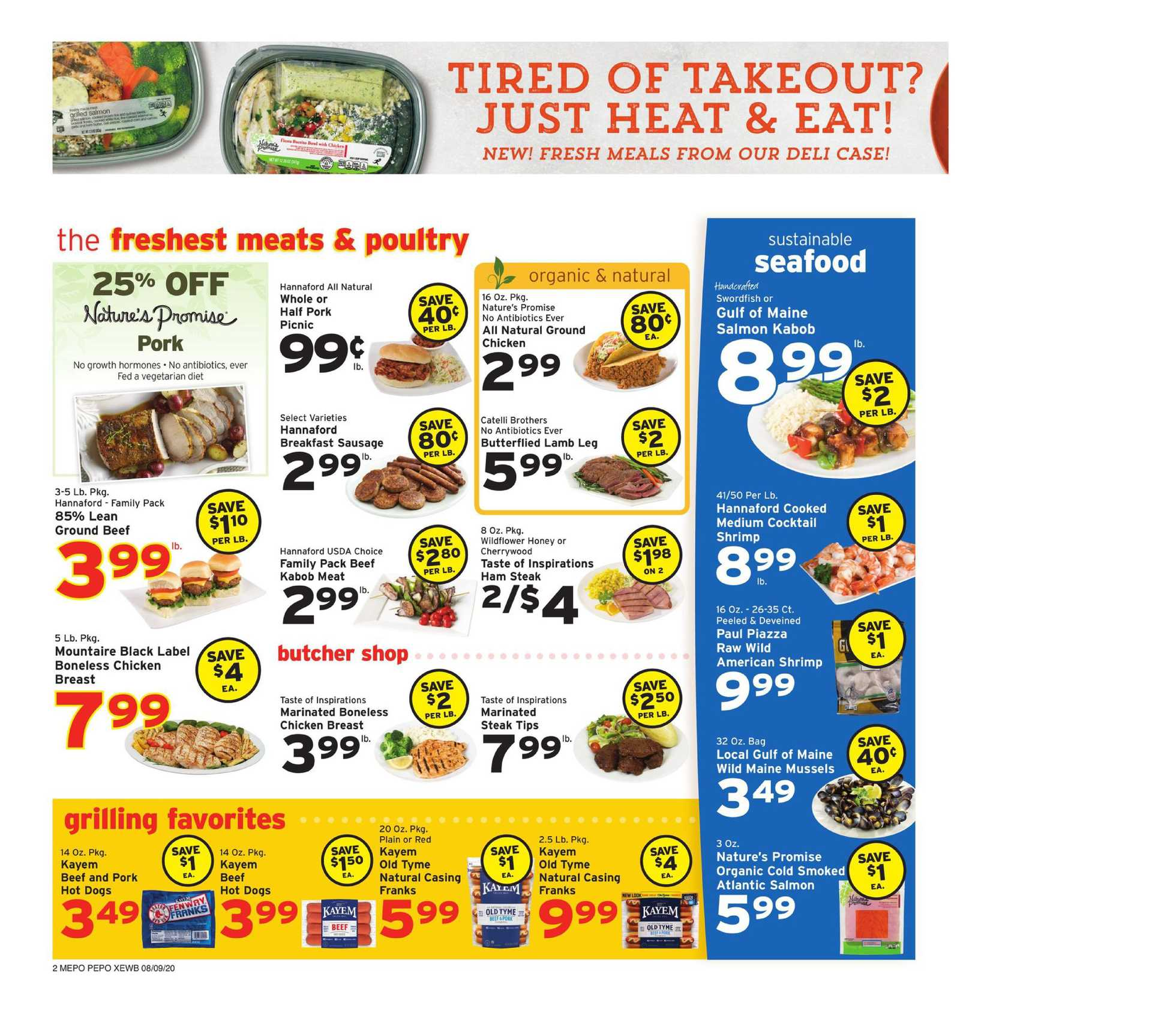 Hannaford - deals are valid from 08/09/20 to 08/15/20 - page 2.