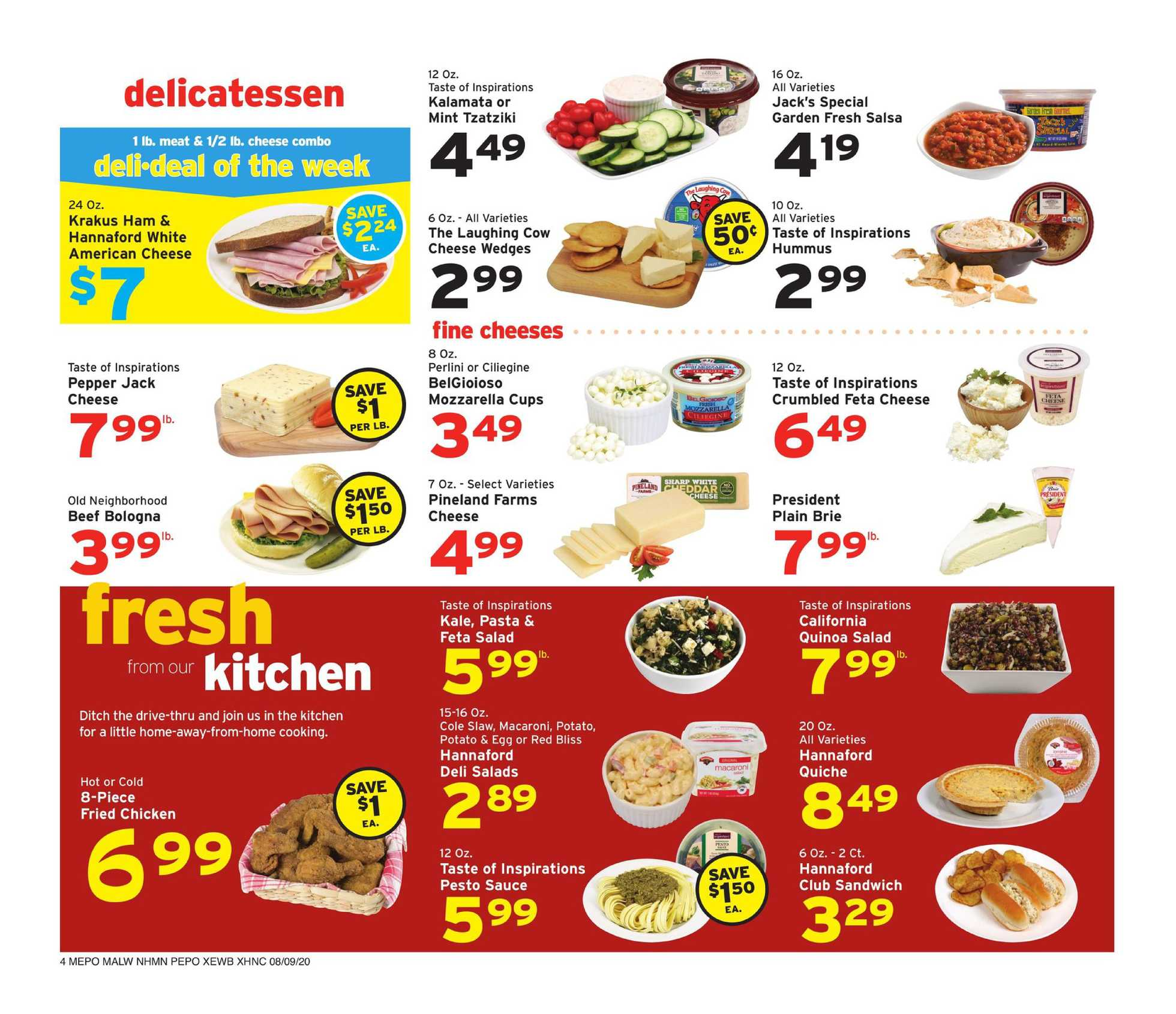 Hannaford - deals are valid from 08/09/20 to 08/15/20 - page 4.