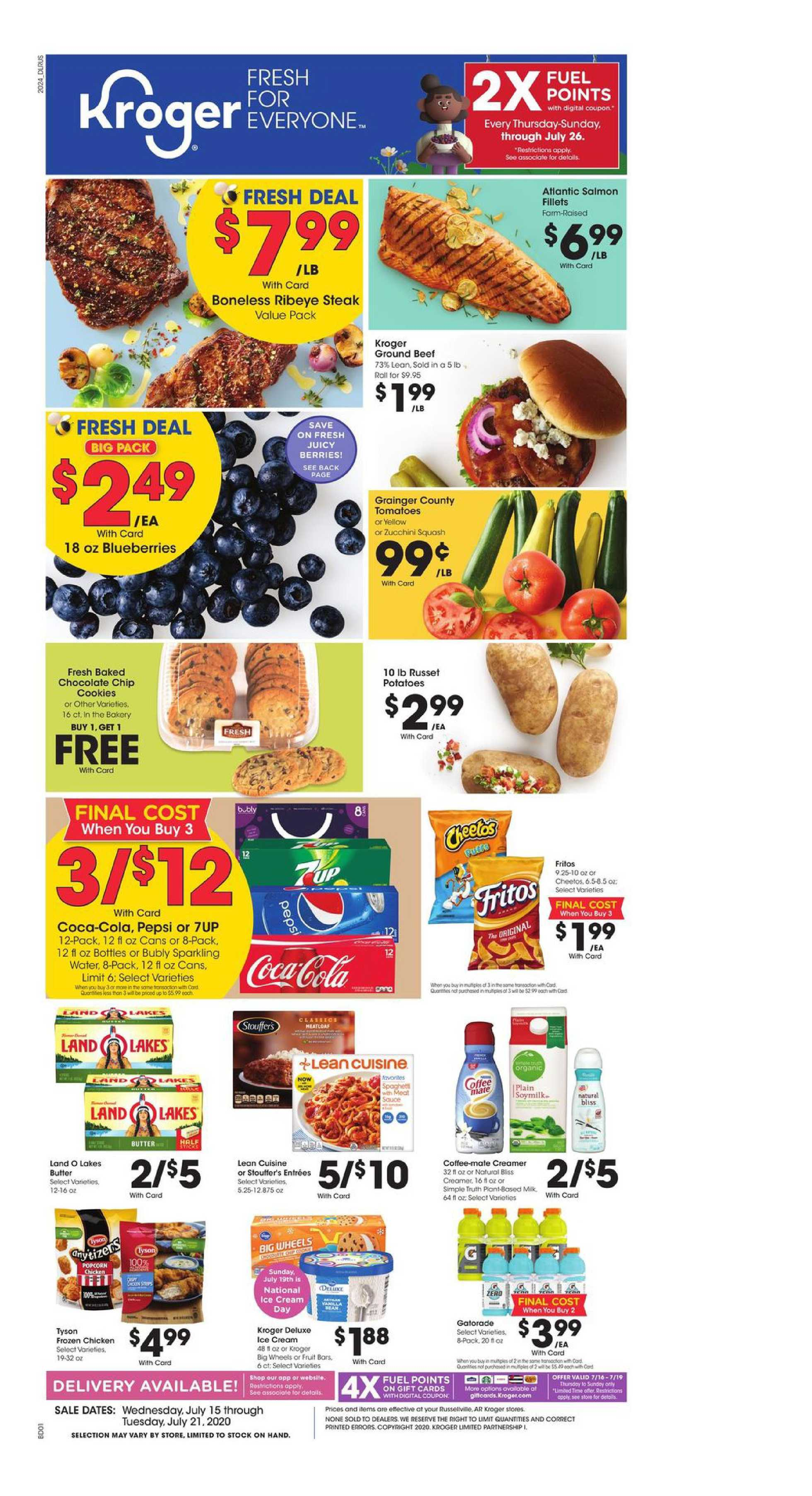 Kroger - deals are valid from 07/15/20 to 07/21/20 - page 1.
