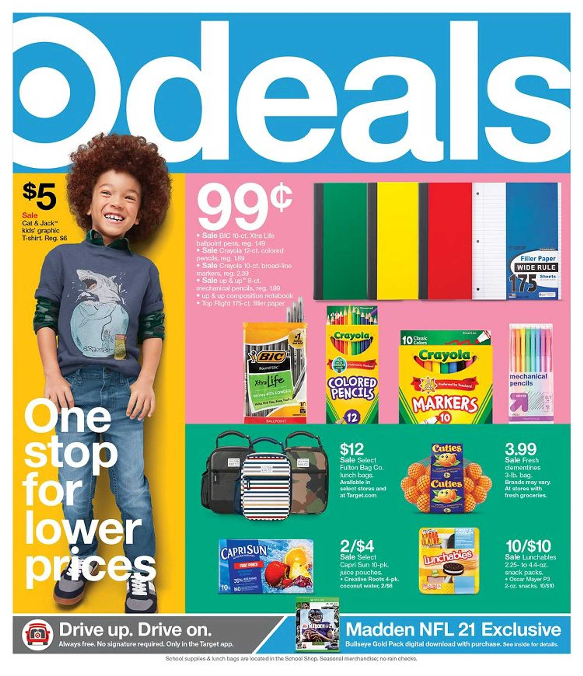 Target - deals are valid from 08/23/20 to 08/29/20 - page 1.