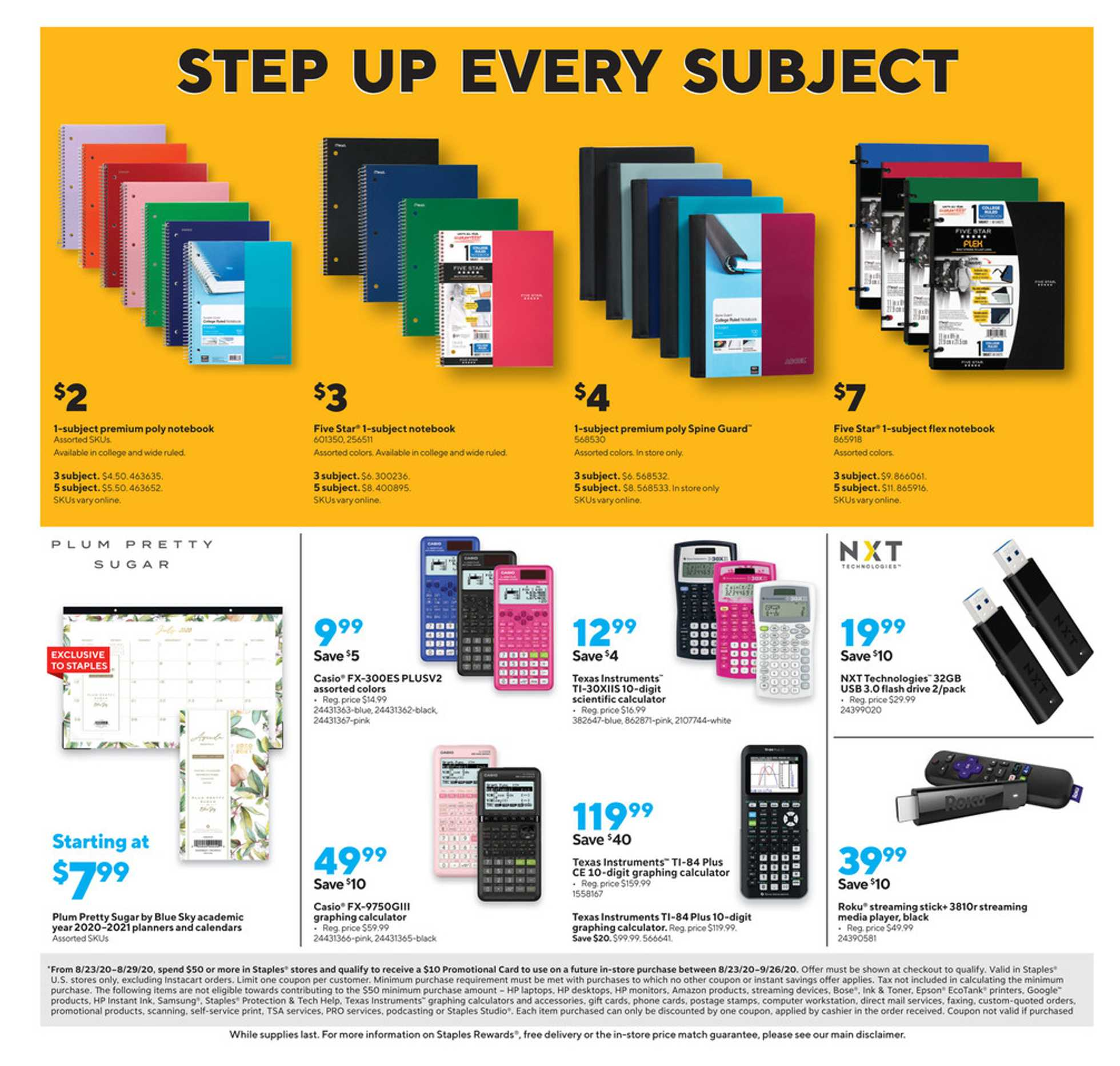 Staples - deals are valid from 08/23/20 to 08/29/20 - page 2.