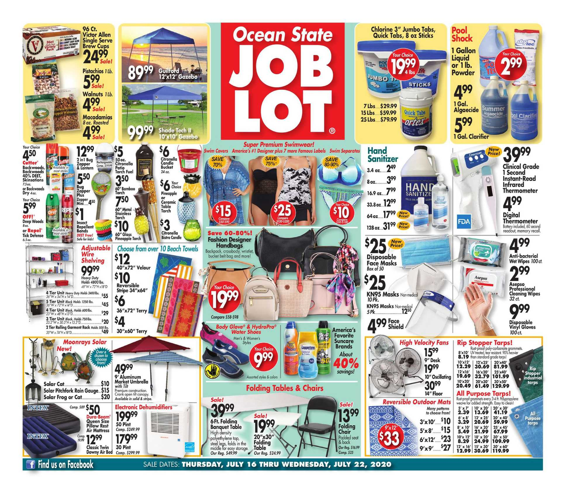 Ocean State Job Lot - deals are valid from 07/16/20 to 07/22/20 - page 1.