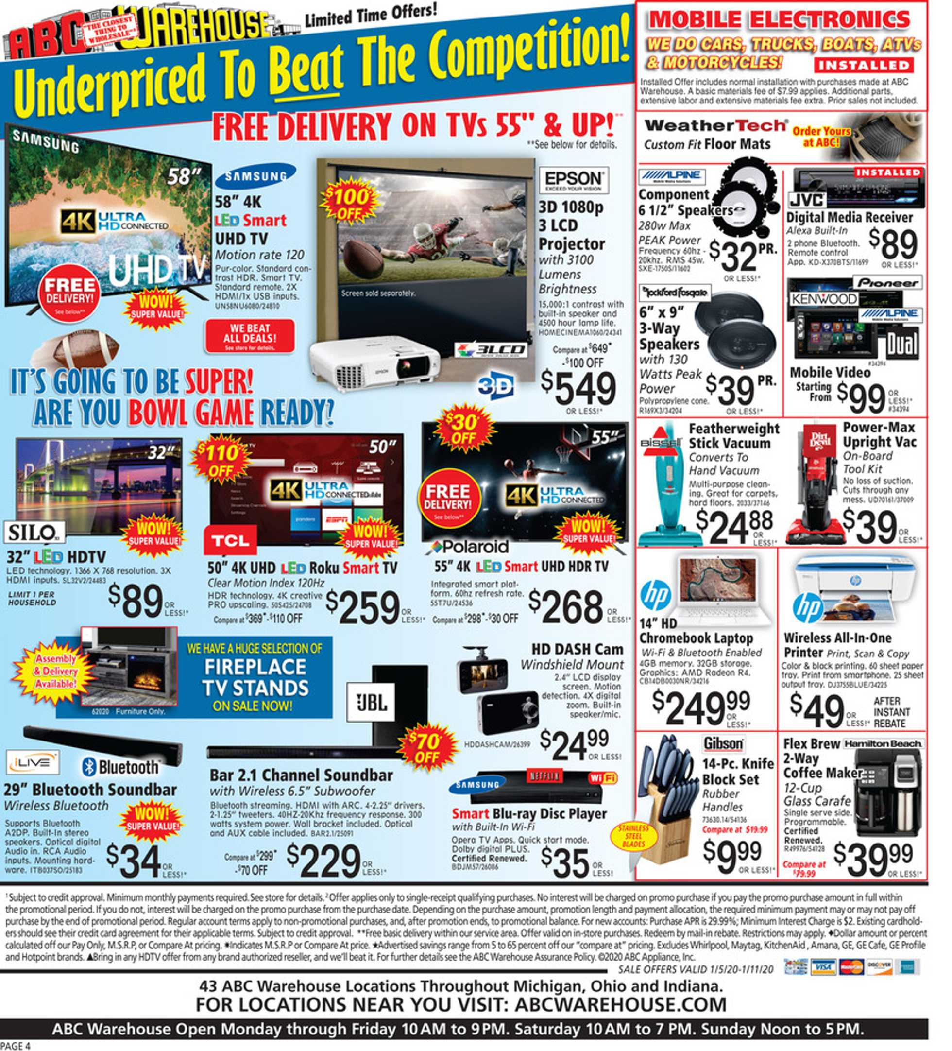 ABC Warehouse - deals are valid from 01/05/20 to 01/11/20 - page 4.