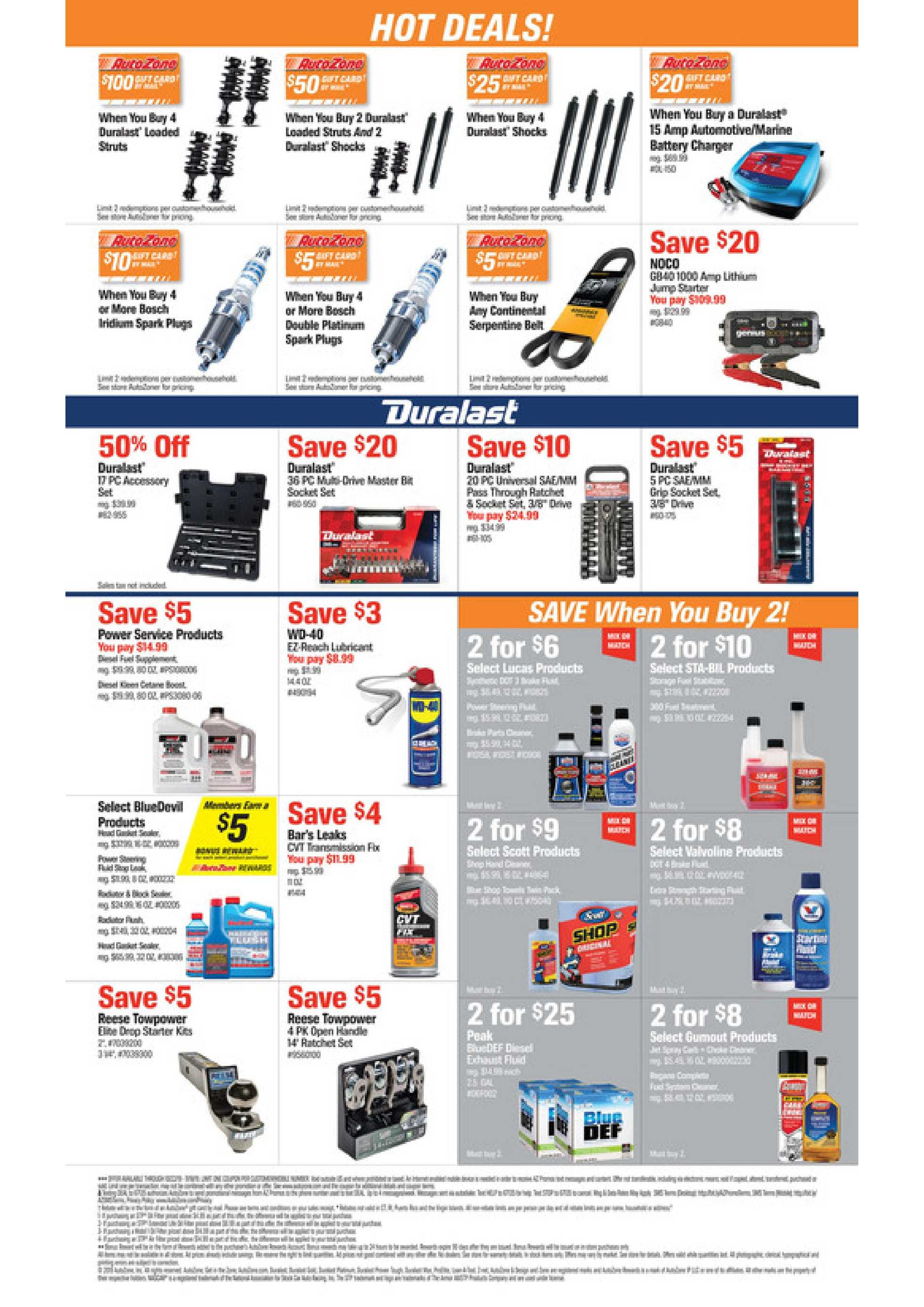 AutoZone - deals are valid from 10/22/19 to 11/18/19 - page 2.