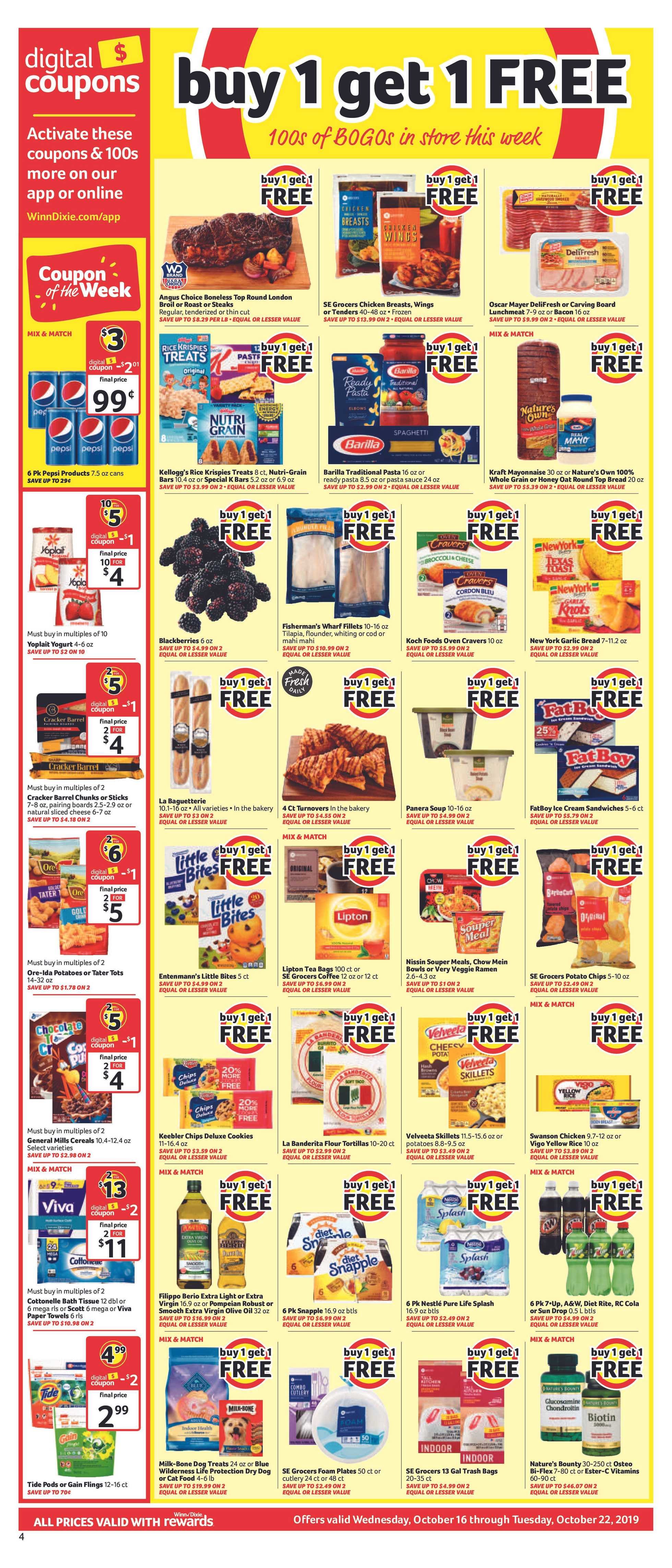 Winn Dixie - deals are valid from 10/16/19 to 10/22/19 - page 4.