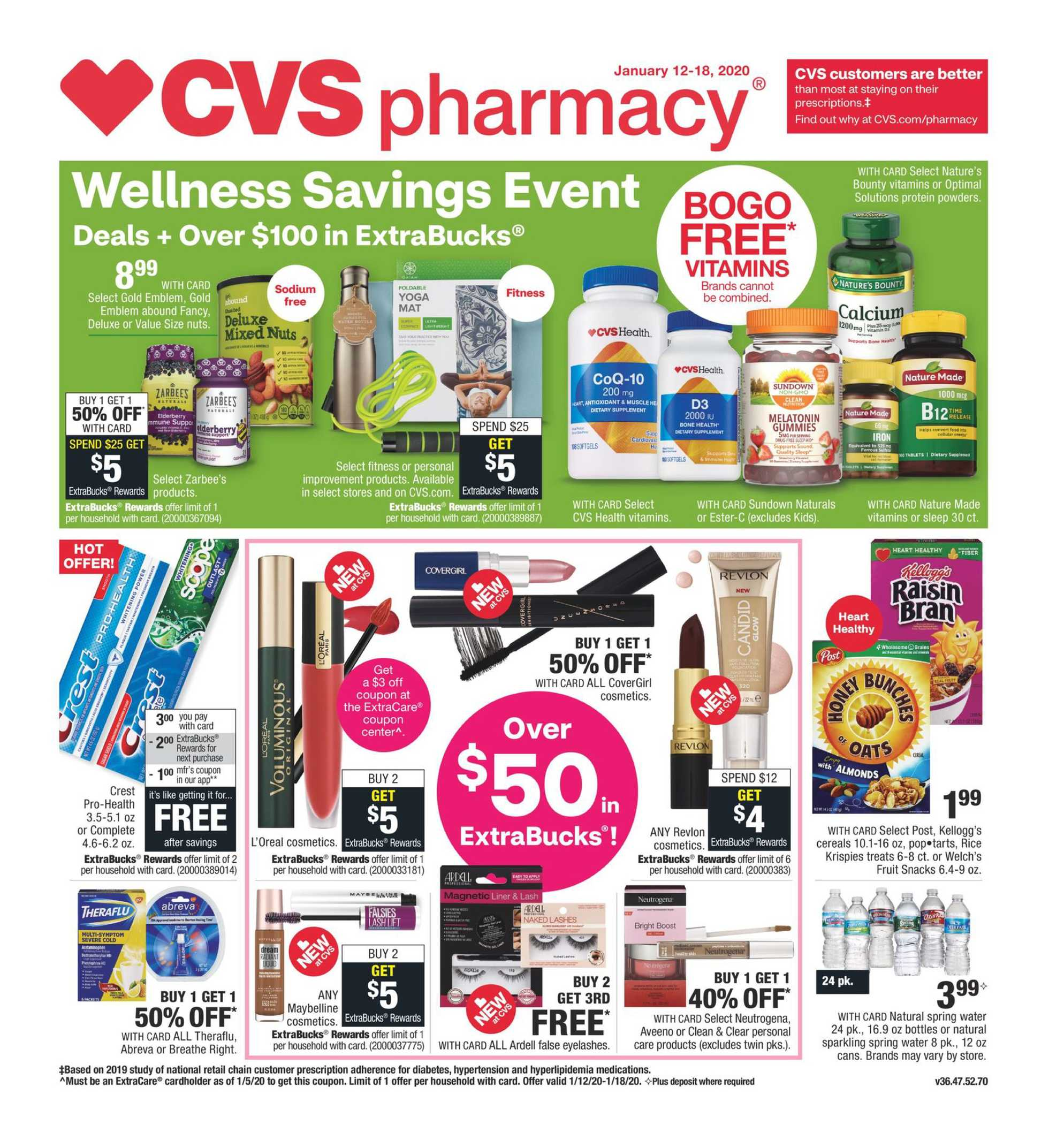 CVS - deals are valid from 01/12/20 to 01/18/20 - page 1.