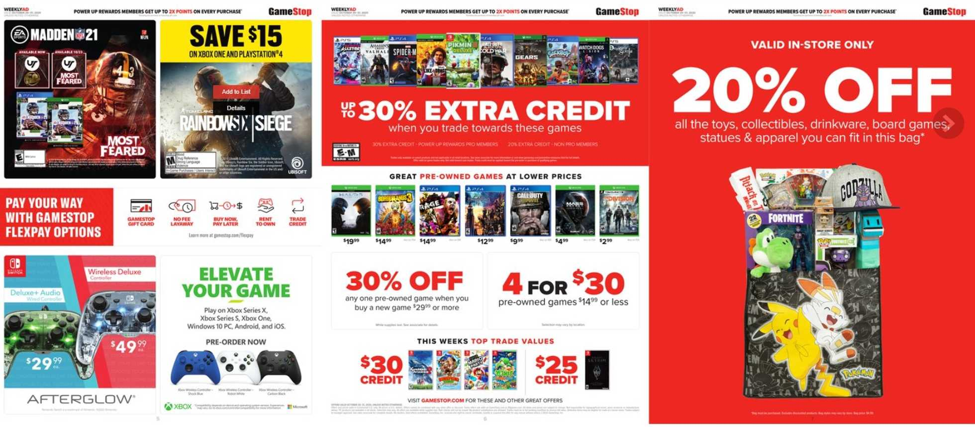 GameStop - deals are valid from 10/25/20 to 10/31/20 - page 3.