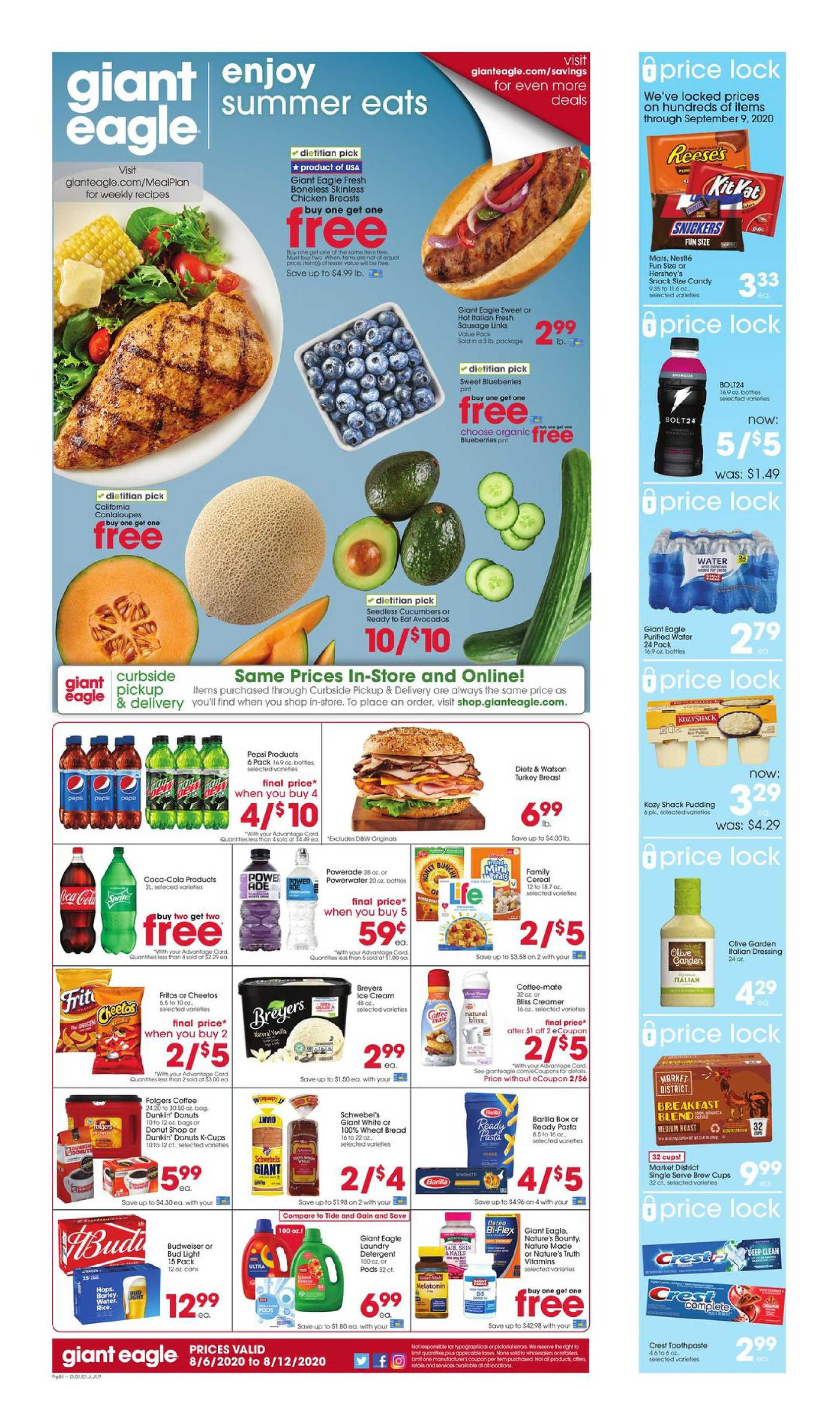 Giant Eagle - deals are valid from 08/06/20 to 08/12/20 - page 1.