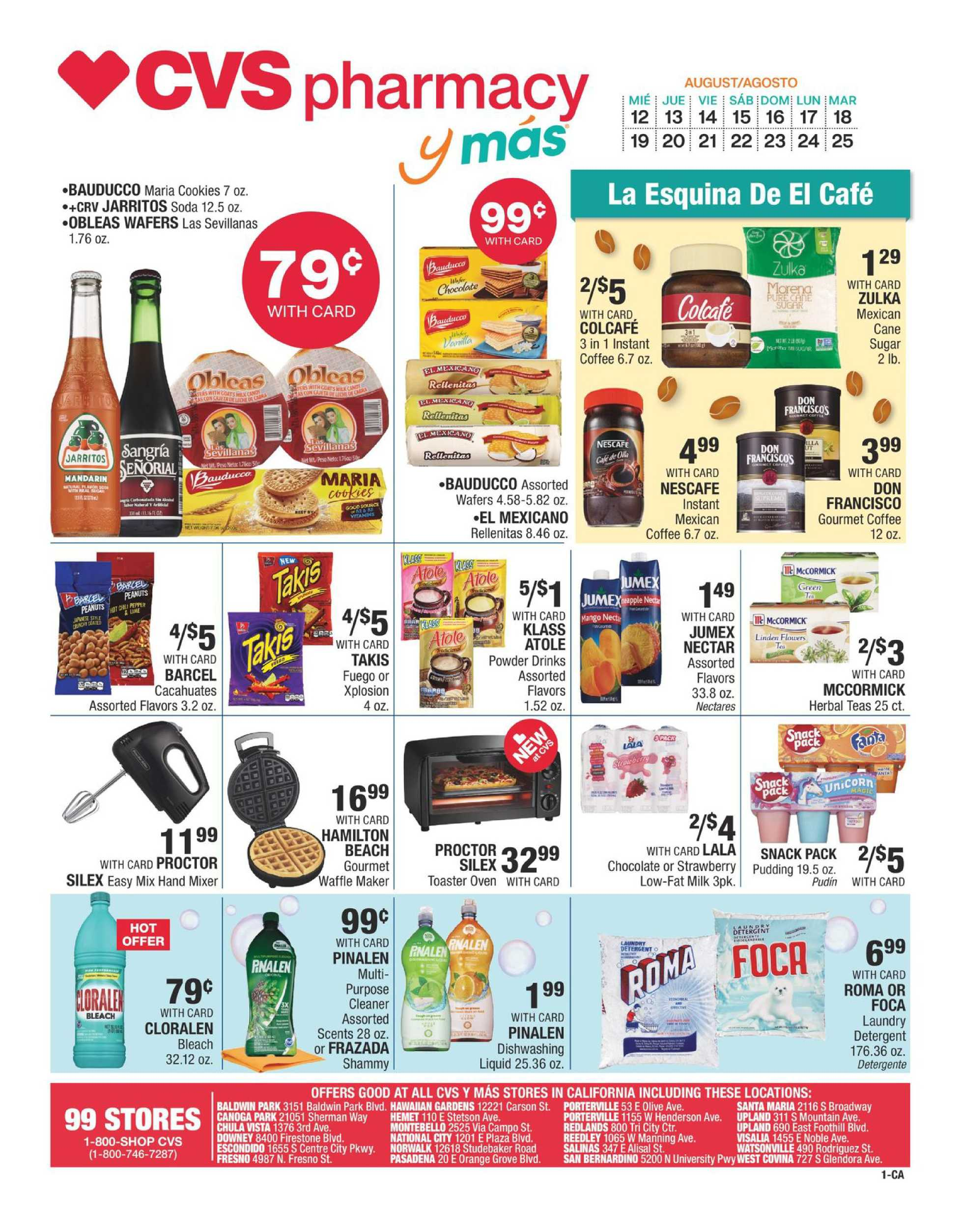 CVS - deals are valid from 08/12/20 to 08/25/20 - page 1.