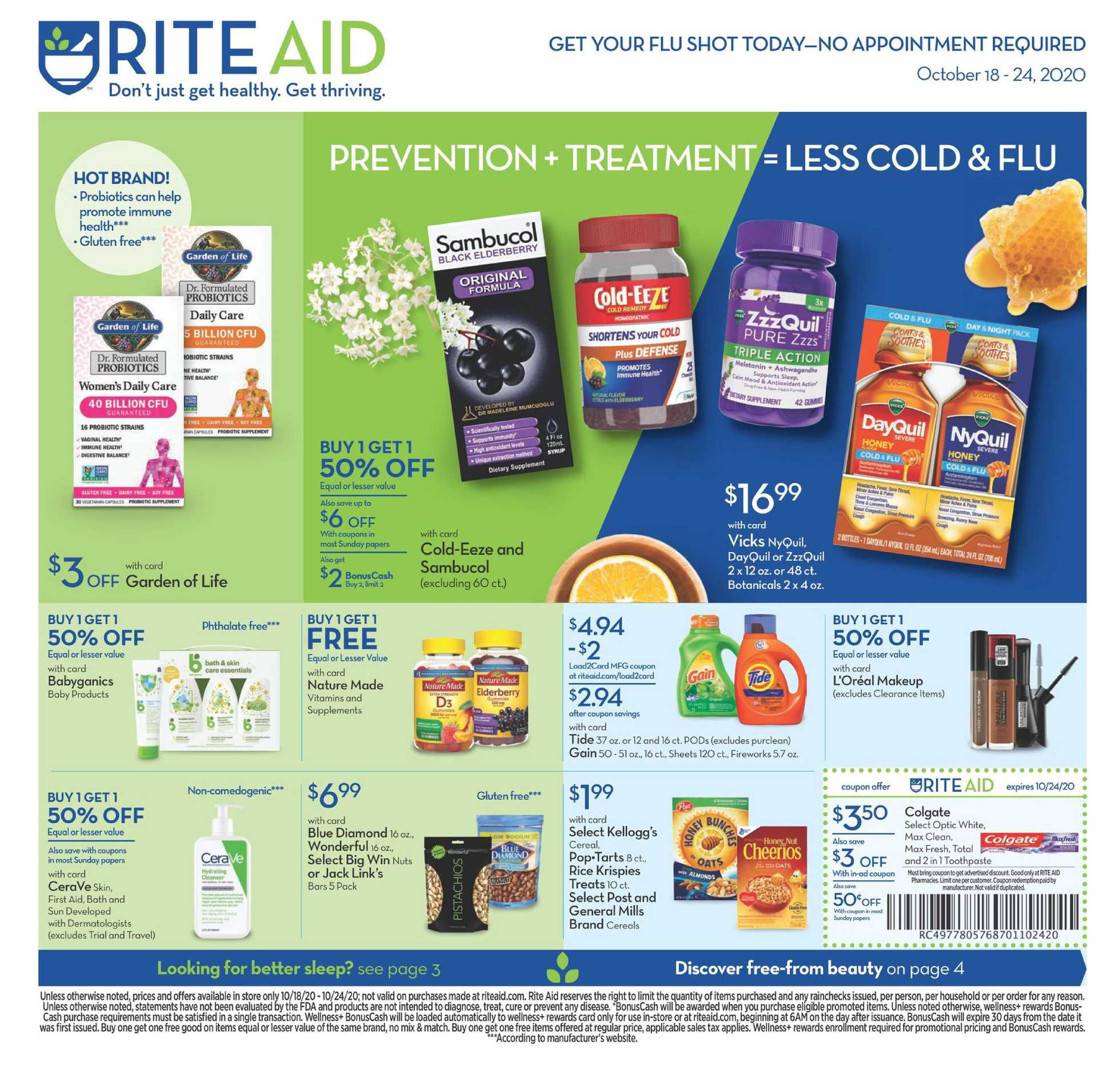 Rite Aid - deals are valid from 10/18/20 to 10/24/20 - page 2.