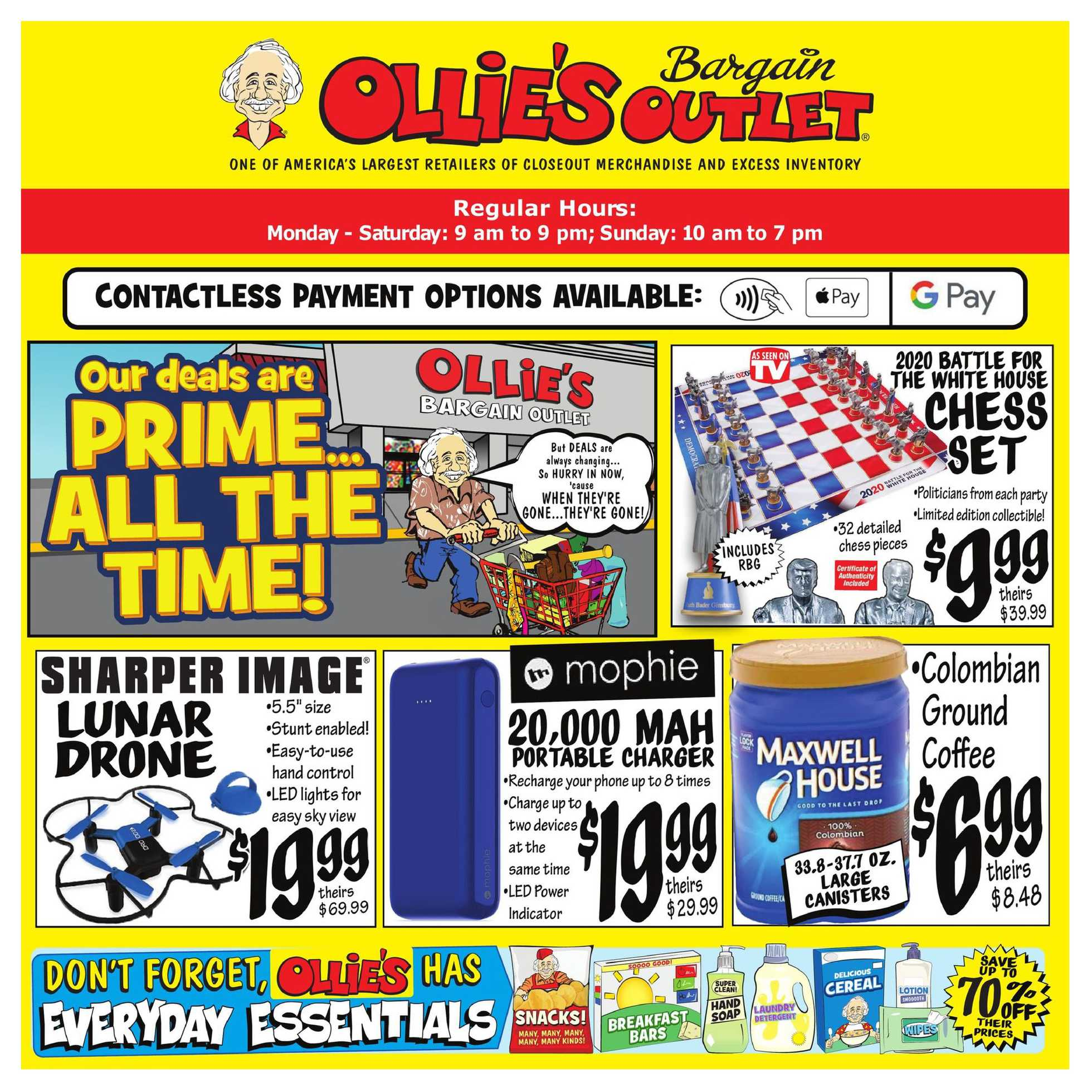 Ollie's Bargain Outlet - deals are valid from 10/12/20 to 10/21/20 - page 1.