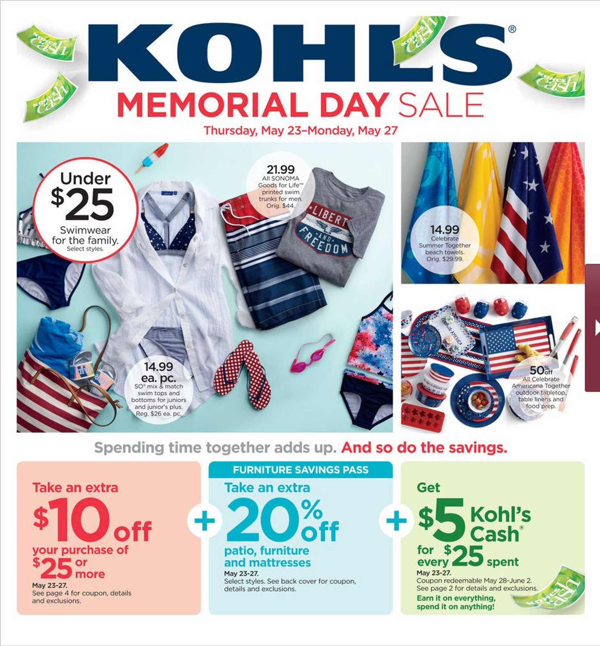 Kohl's - deals are valid from 05/23/19 to 05/27/19 - page 1.