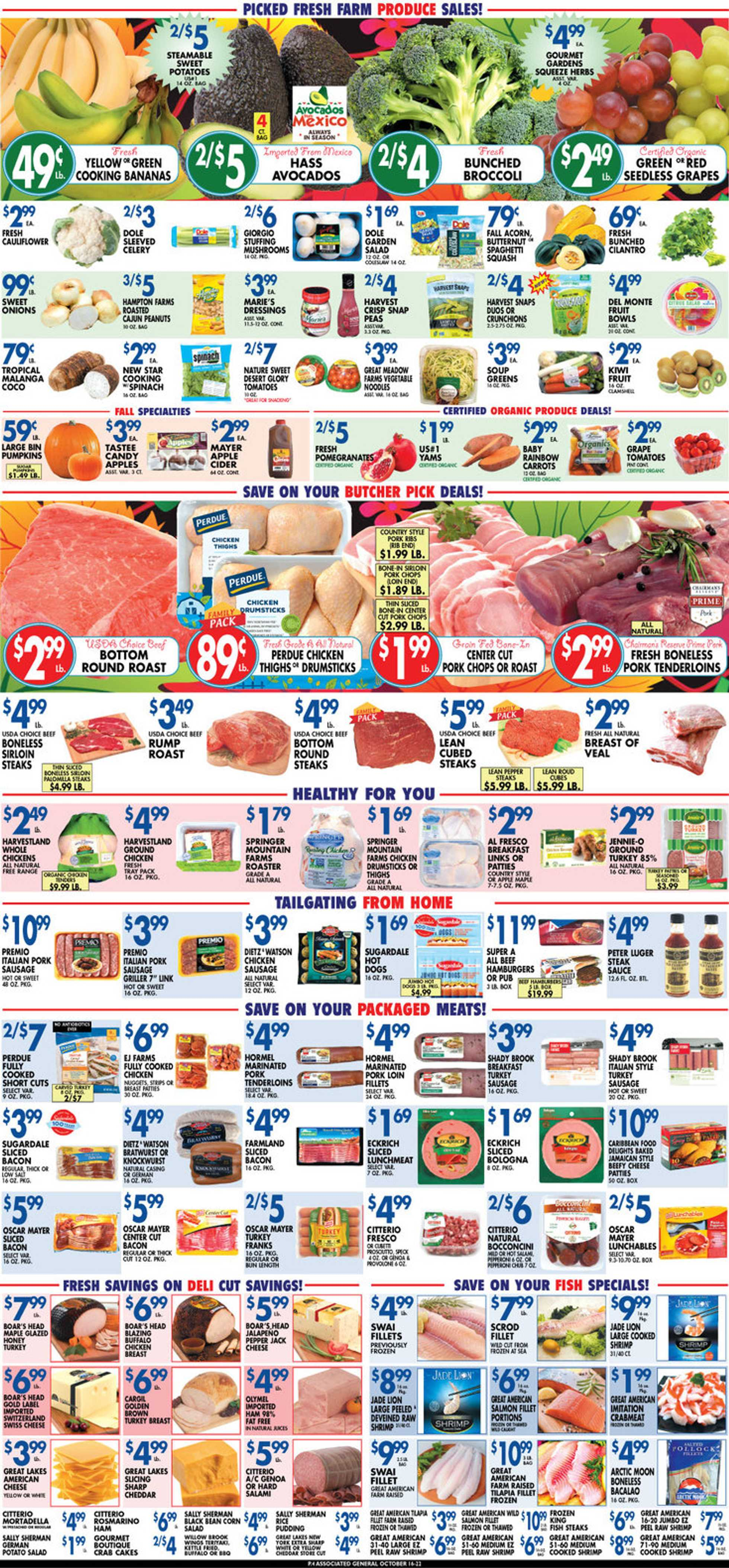 Associated Supermarkets - deals are valid from 10/16/20 to 10/22/20 - page 4.