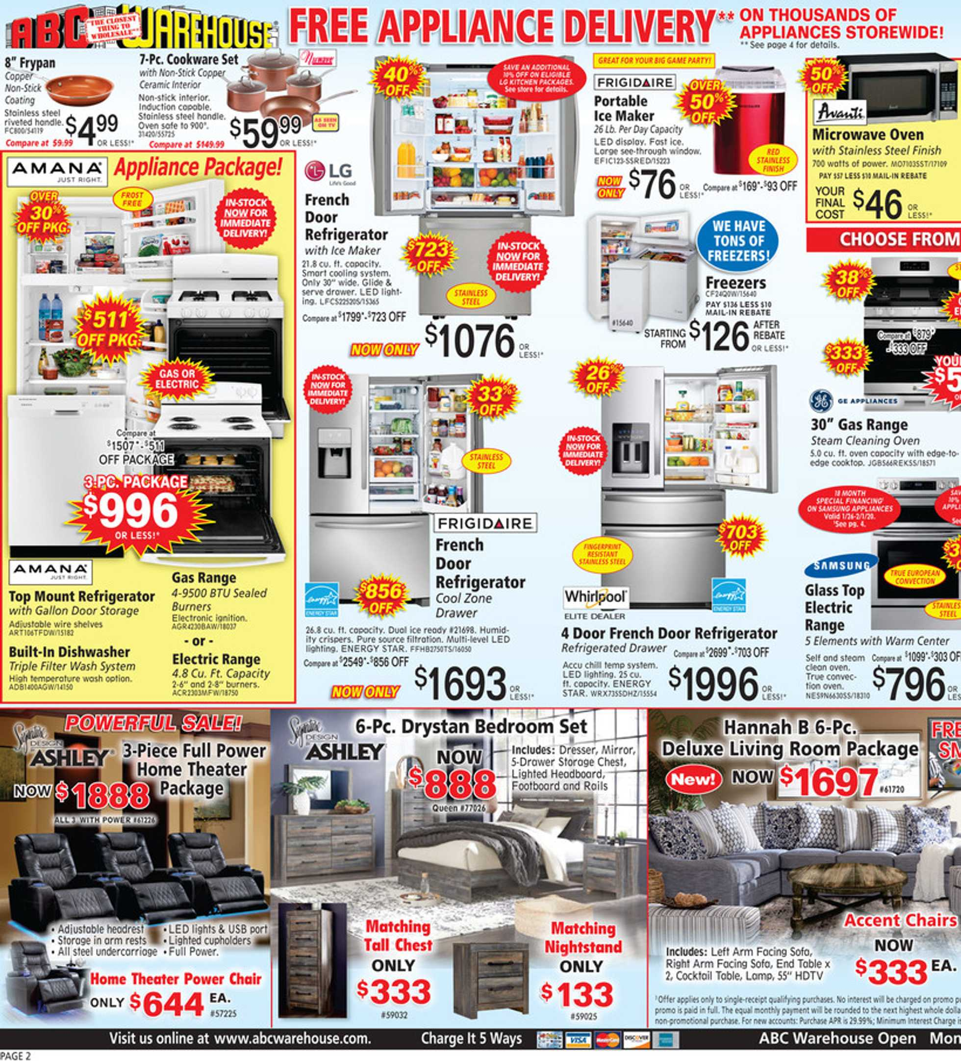 ABC Warehouse - deals are valid from 01/26/20 to 02/01/20 - page 2.