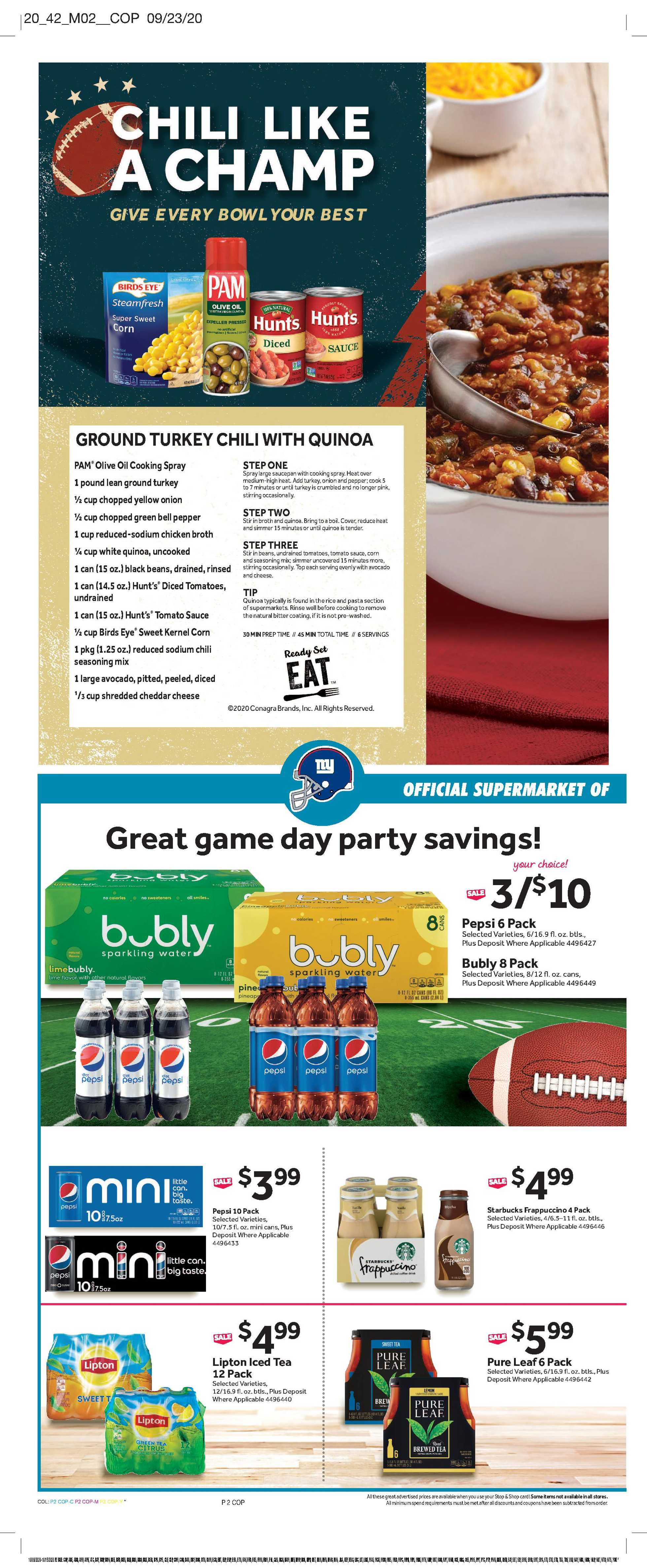 Stop & Shop - deals are valid from 10/09/20 to 10/15/20 - page 4.