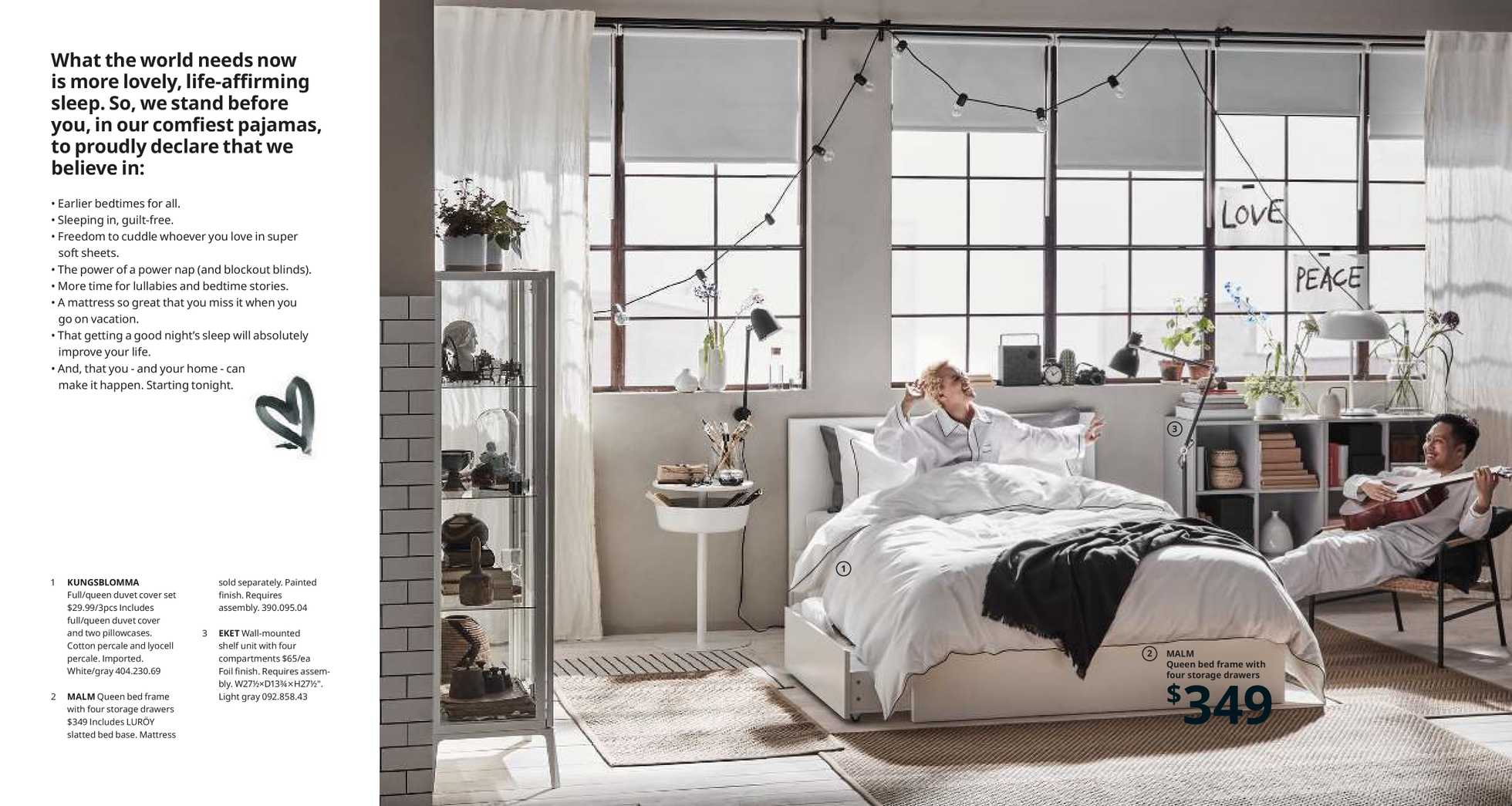 Ikea - deals are valid from 12/01/19 to 12/01/20 - page 2. The promotion includes bed, drawers, mattress