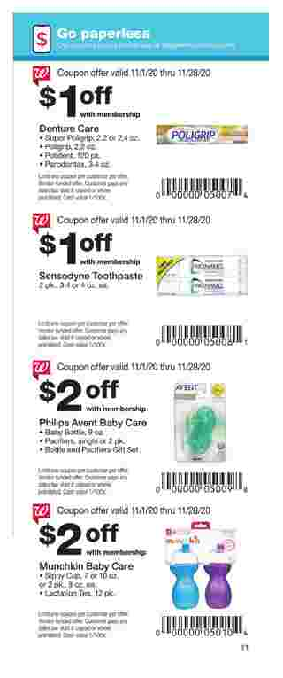 Walgreens - deals are valid from 11/01/20 to 11/28/20 - page 11.