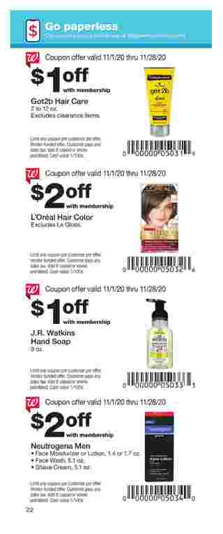 Walgreens - deals are valid from 11/01/20 to 11/28/20 - page 22.
