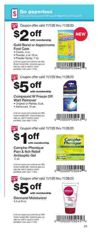 Walgreens - deals are valid from 11/01/20 to 11/28/20 - page 29.
