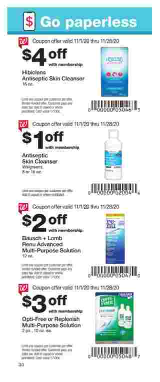 Walgreens - deals are valid from 11/01/20 to 11/28/20 - page 30.