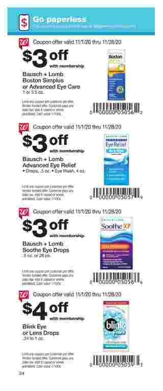 Walgreens - deals are valid from 11/01/20 to 11/28/20 - page 34.
