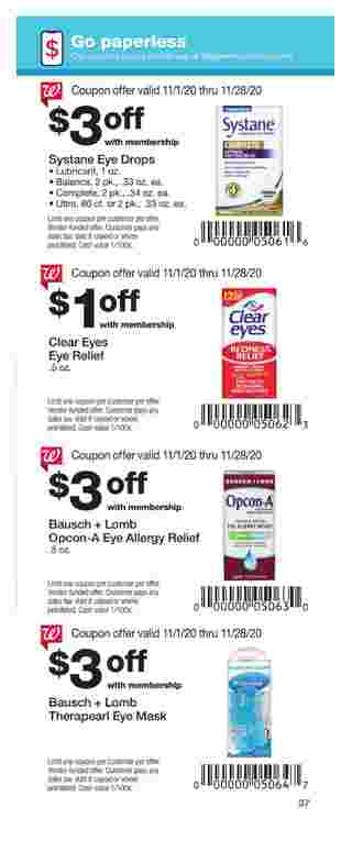 Walgreens - deals are valid from 11/01/20 to 11/28/20 - page 37.