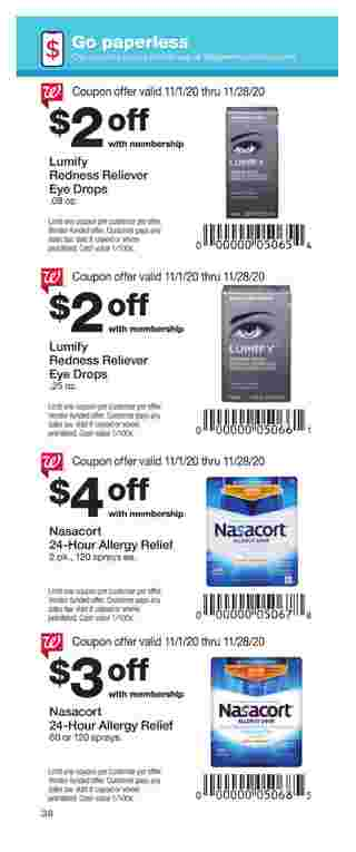 Walgreens - deals are valid from 11/01/20 to 11/28/20 - page 38.