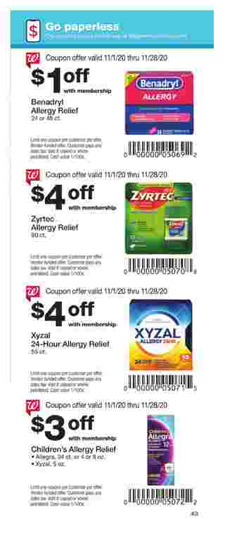Walgreens - deals are valid from 11/01/20 to 11/28/20 - page 43.