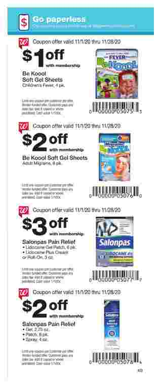 Walgreens - deals are valid from 11/01/20 to 11/28/20 - page 49.