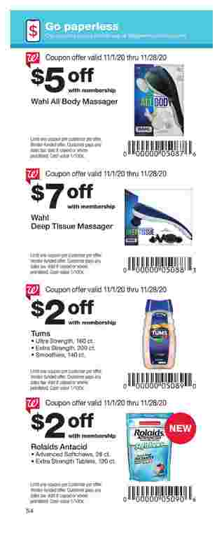 Walgreens - deals are valid from 11/01/20 to 11/28/20 - page 54.