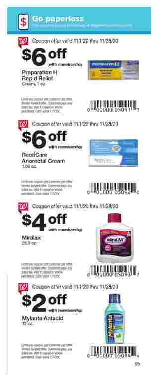 Walgreens - deals are valid from 11/01/20 to 11/28/20 - page 59.
