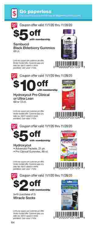 Walgreens - deals are valid from 11/01/20 to 11/28/20 - page 64.