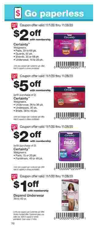 Walgreens - deals are valid from 11/01/20 to 11/28/20 - page 70.